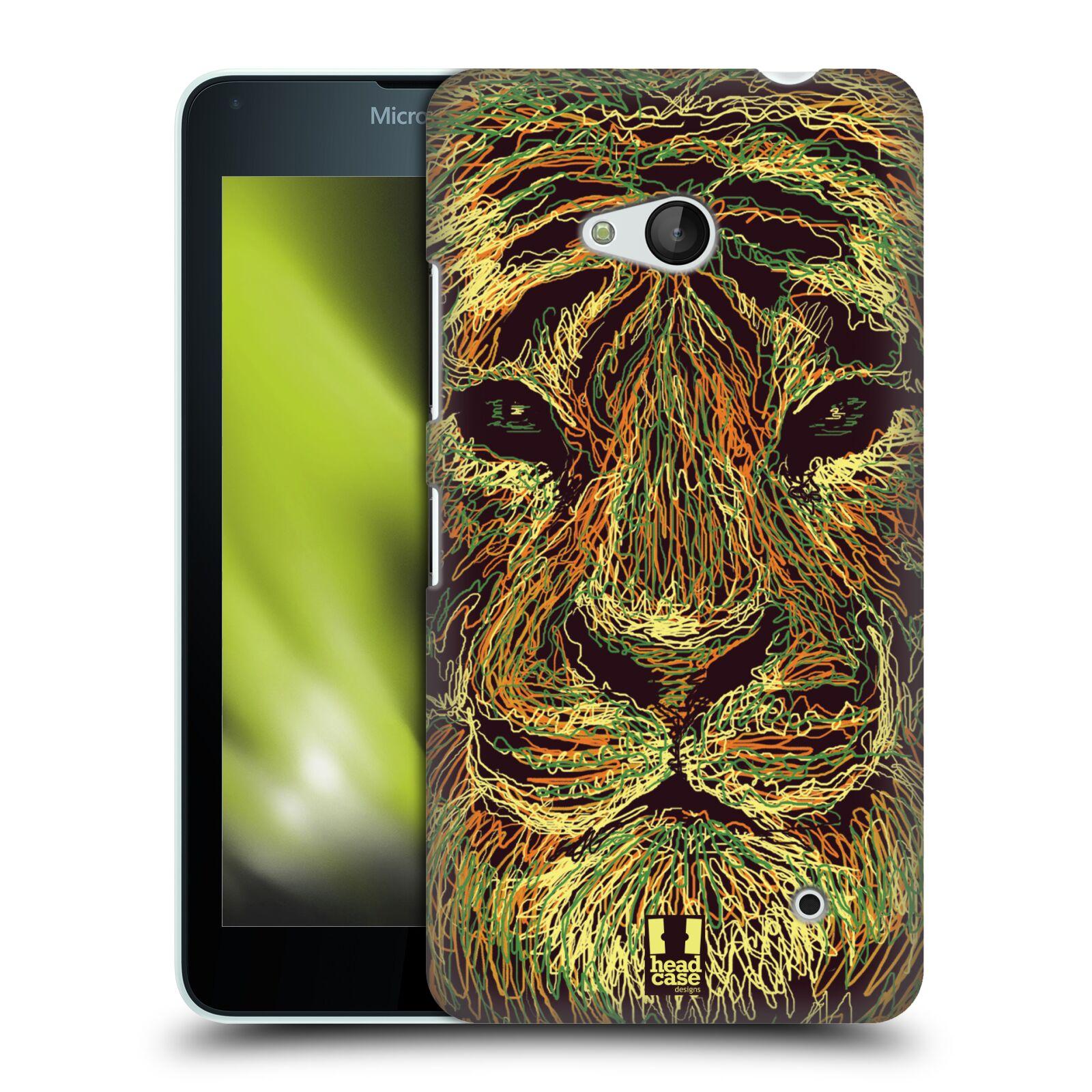 HEAD CASE plastový obal na mobil Nokia Lumia 640 vzor zvíře čmáranice tygr