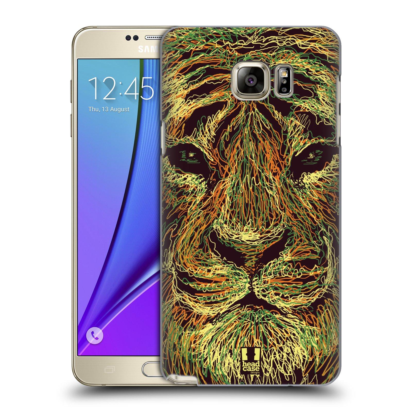 HEAD CASE plastový obal na mobil SAMSUNG Galaxy Note 5 (N920) vzor zvíře čmáranice tygr