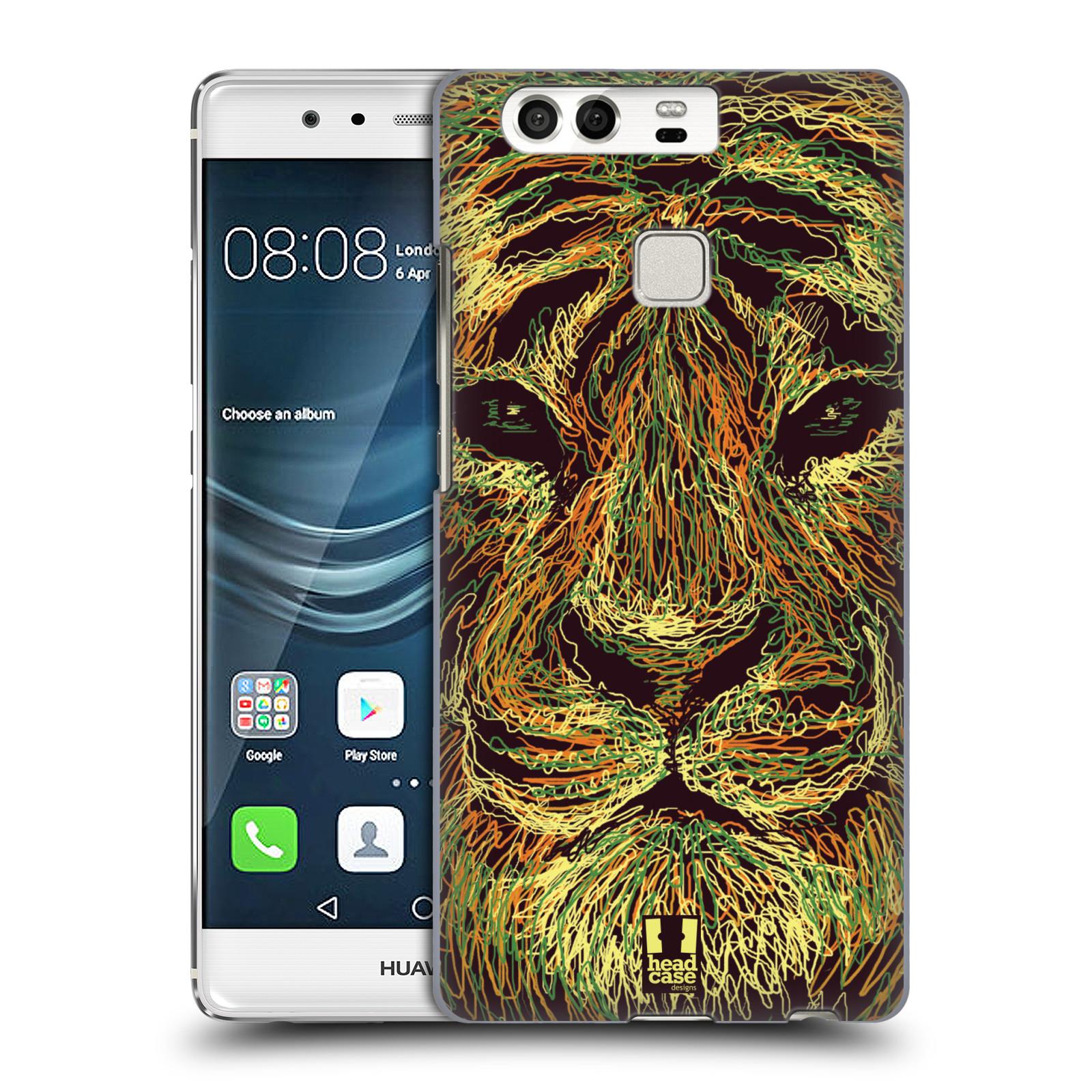 HEAD CASE plastový obal na mobil Huawei P9 / P9 DUAL SIM vzor zvíře čmáranice tygr