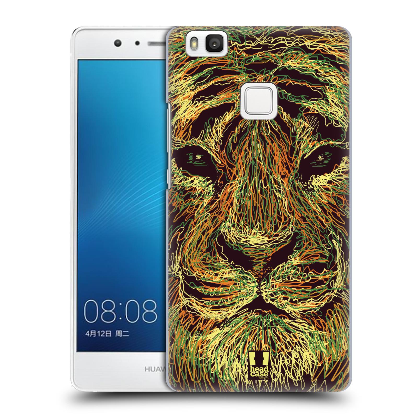 HEAD CASE plastový obal na mobil Huawei P9 LITE / P9 LITE DUAL SIM vzor zvíře čmáranice tygr