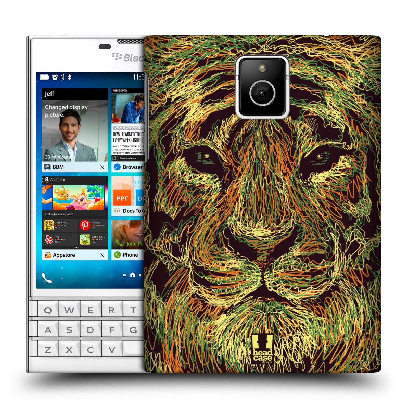 HEAD CASE plastový obal na mobil BlackBerry Passport vzor zvíře čmáranice tygr