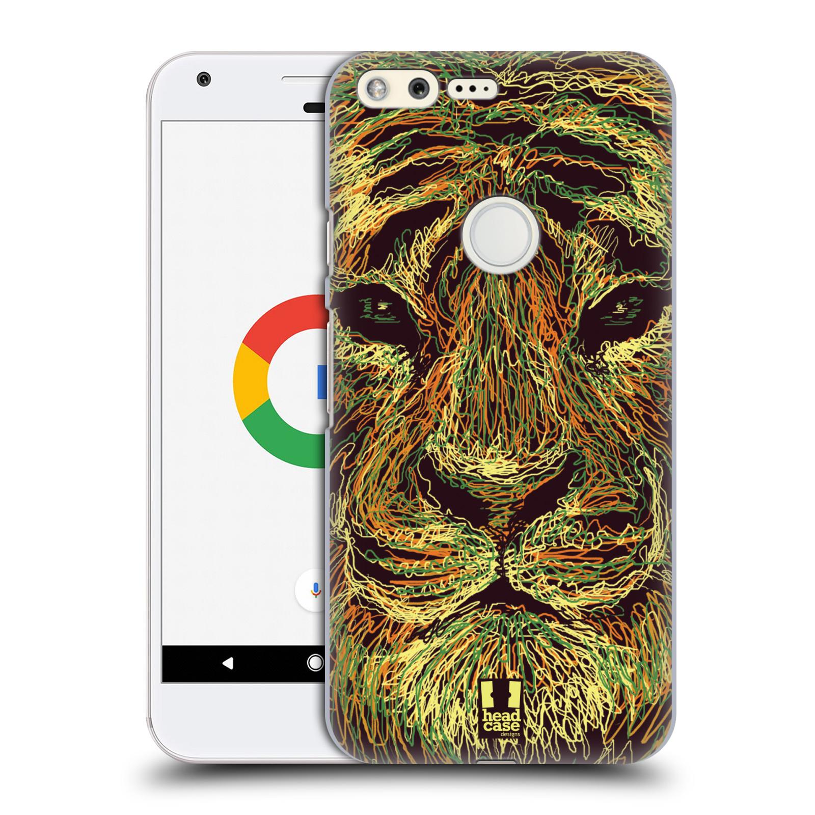 HEAD CASE plastový obal na mobil GOOGLE Pixel vzor zvíře čmáranice tygr