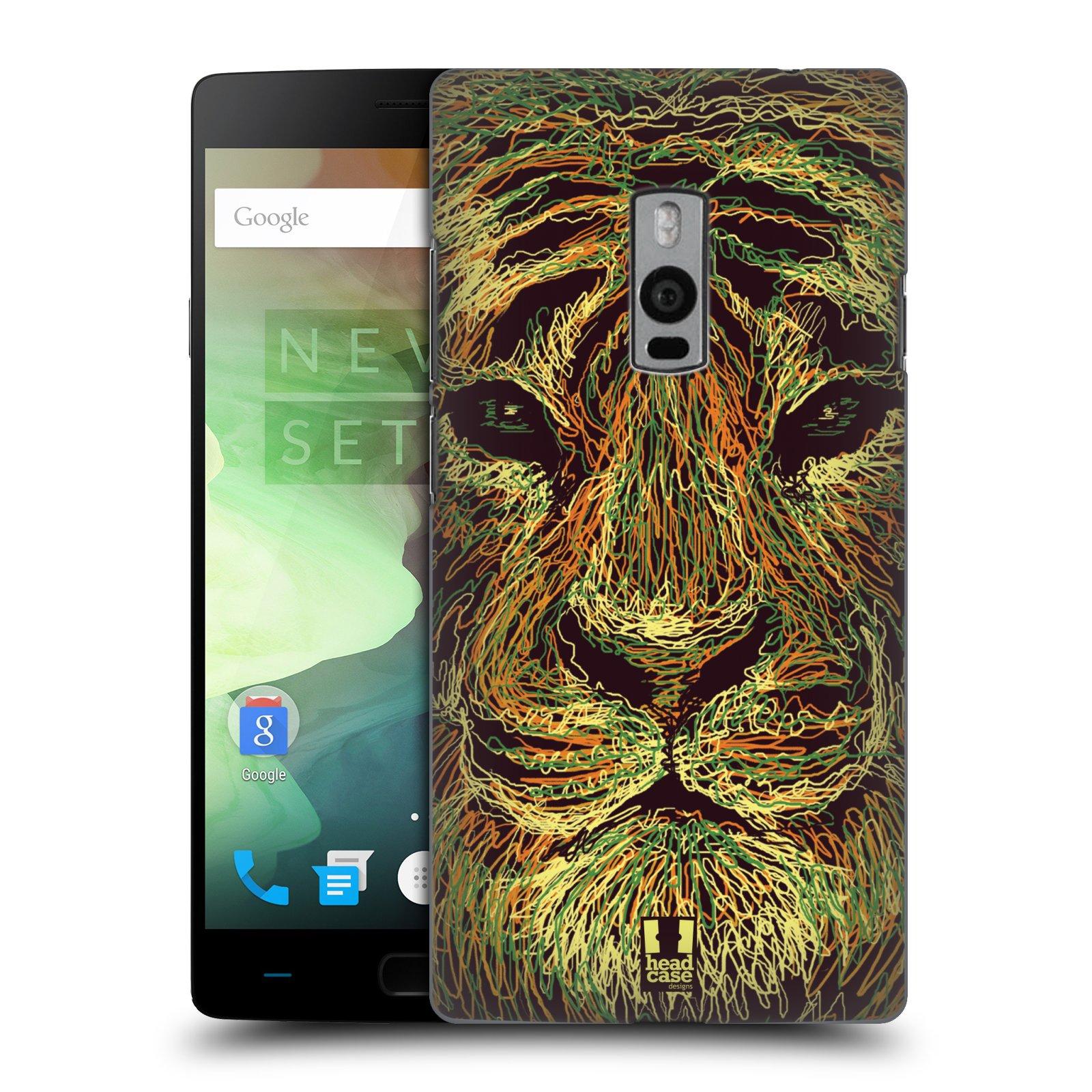 HEAD CASE pevný plastový obal na mobil OnePlus 2  ( TWO ) vzor zvíře čmáranice tygr
