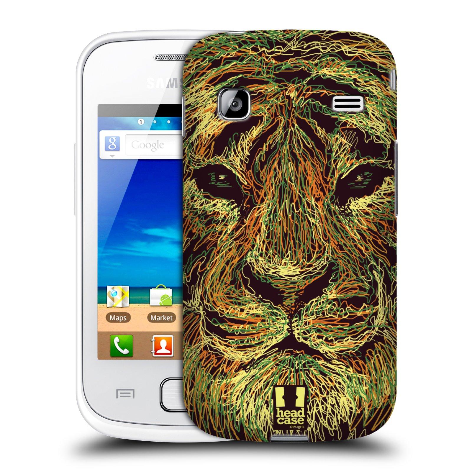 HEAD CASE plastový obal na mobil SAMSUNG GALAXY GIO (S5660) vzor zvíře čmáranice tygr