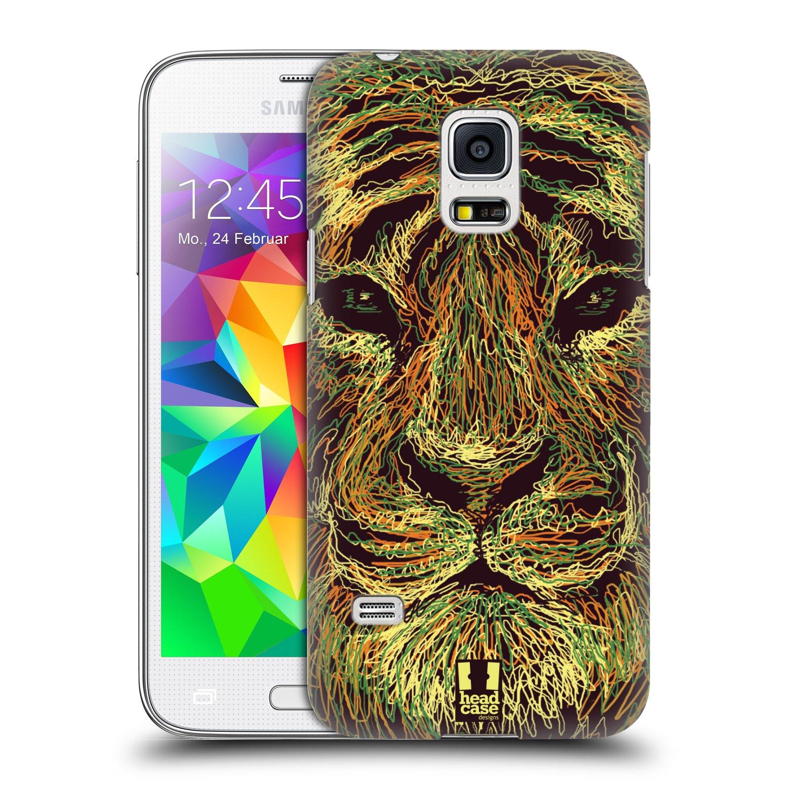 HEAD CASE plastový obal na mobil SAMSUNG Galaxy S5 MINI / S5 MINI DUOS vzor zvíře čmáranice tygr