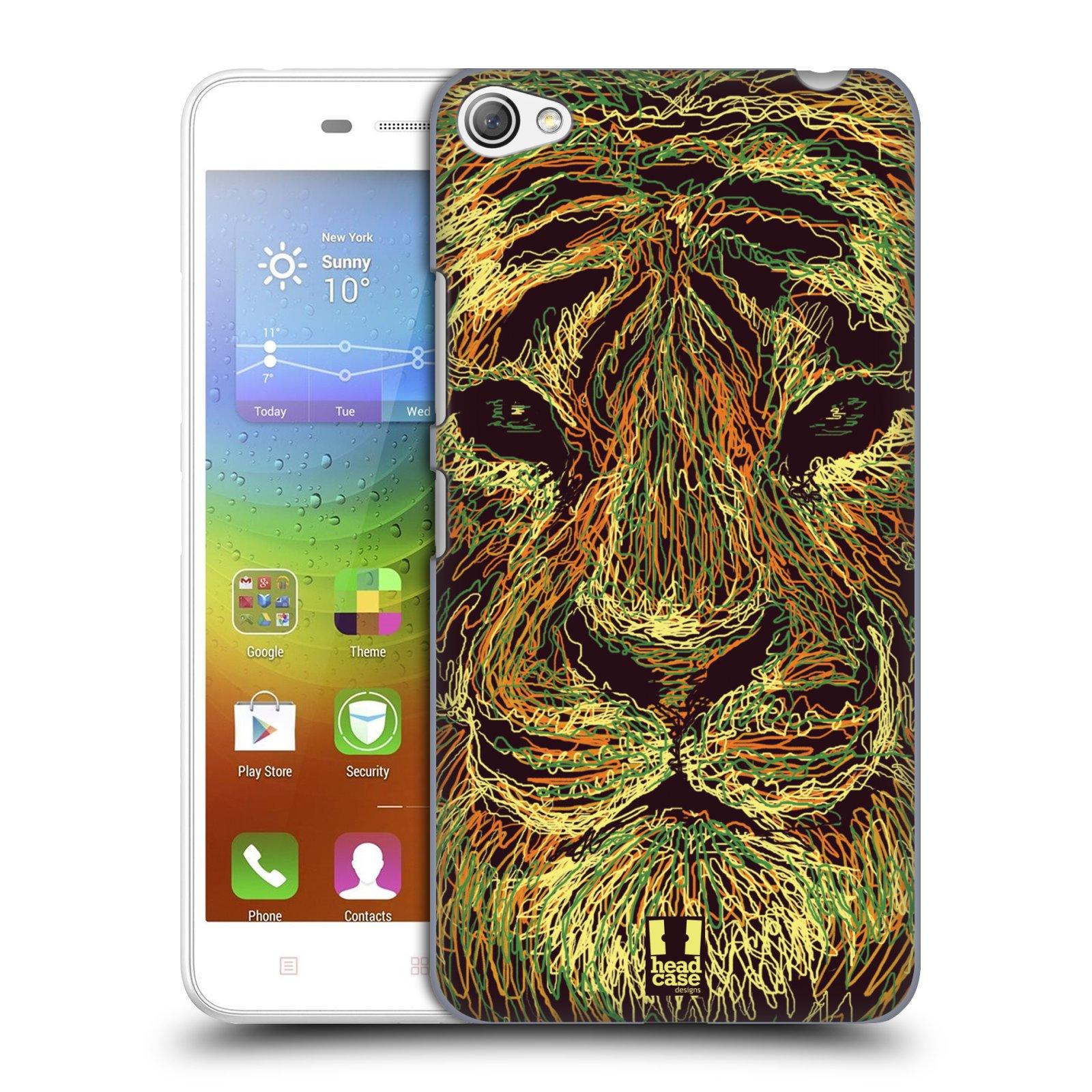 HEAD CASE pevný plastový obal na mobil LENOVO S60 / LENOVO S60 DUAL SIM vzor zvíře čmáranice tygr