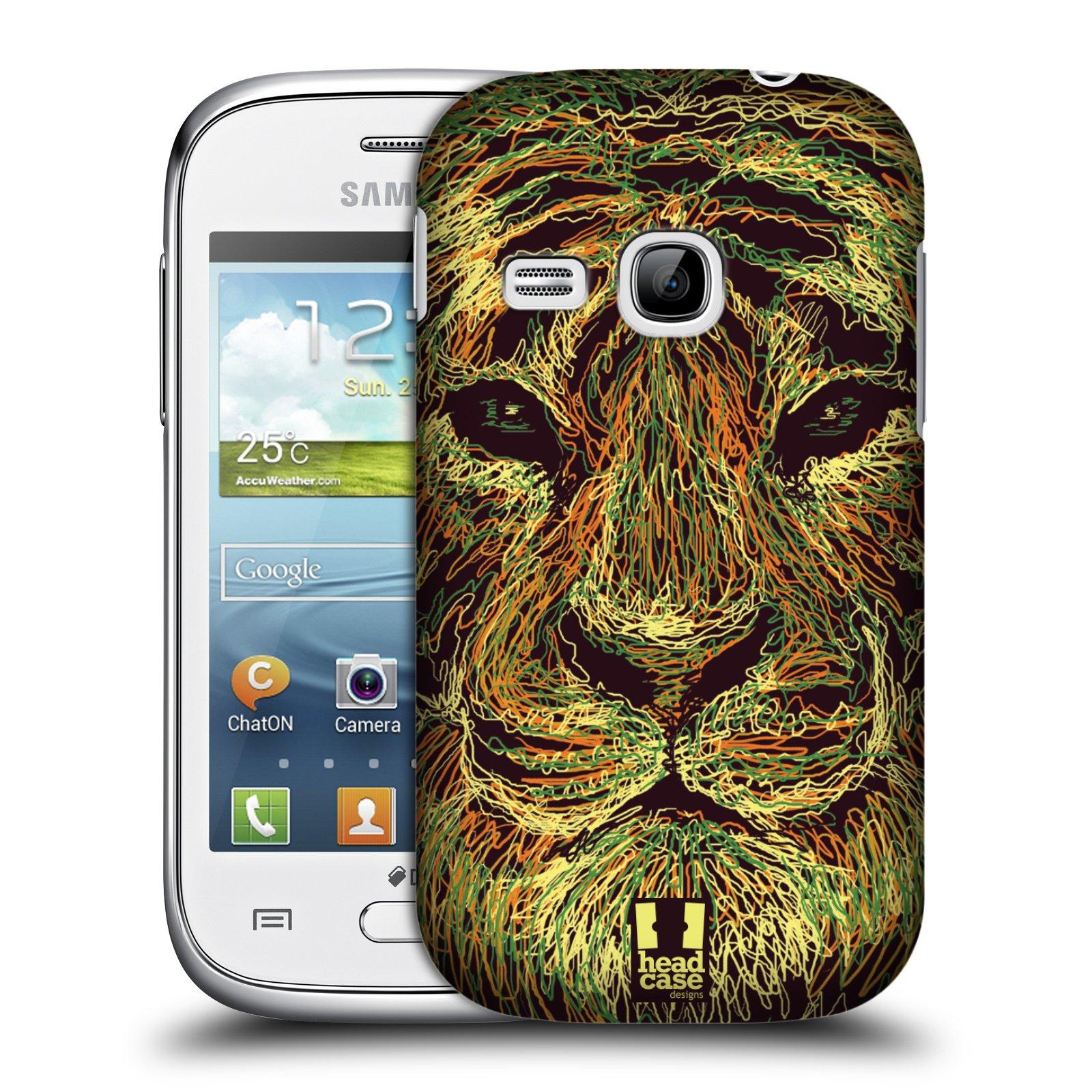 HEAD CASE plastový obal na mobil SAMSUNG Galaxy Young S6310 vzor zvíře čmáranice tygr