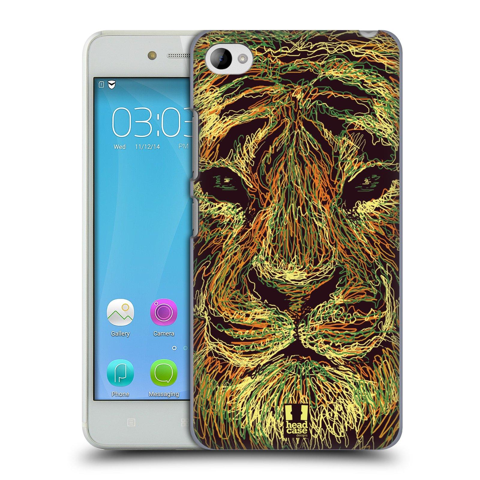 HEAD CASE pevný plastový obal na mobil LENOVO S90 vzor zvíře čmáranice tygr