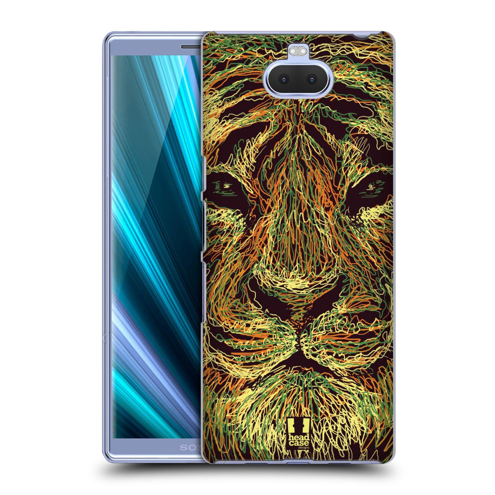 Pouzdro na mobil Sony Xperia 10 - Head Case - vzor zvíře čmáranice tygr