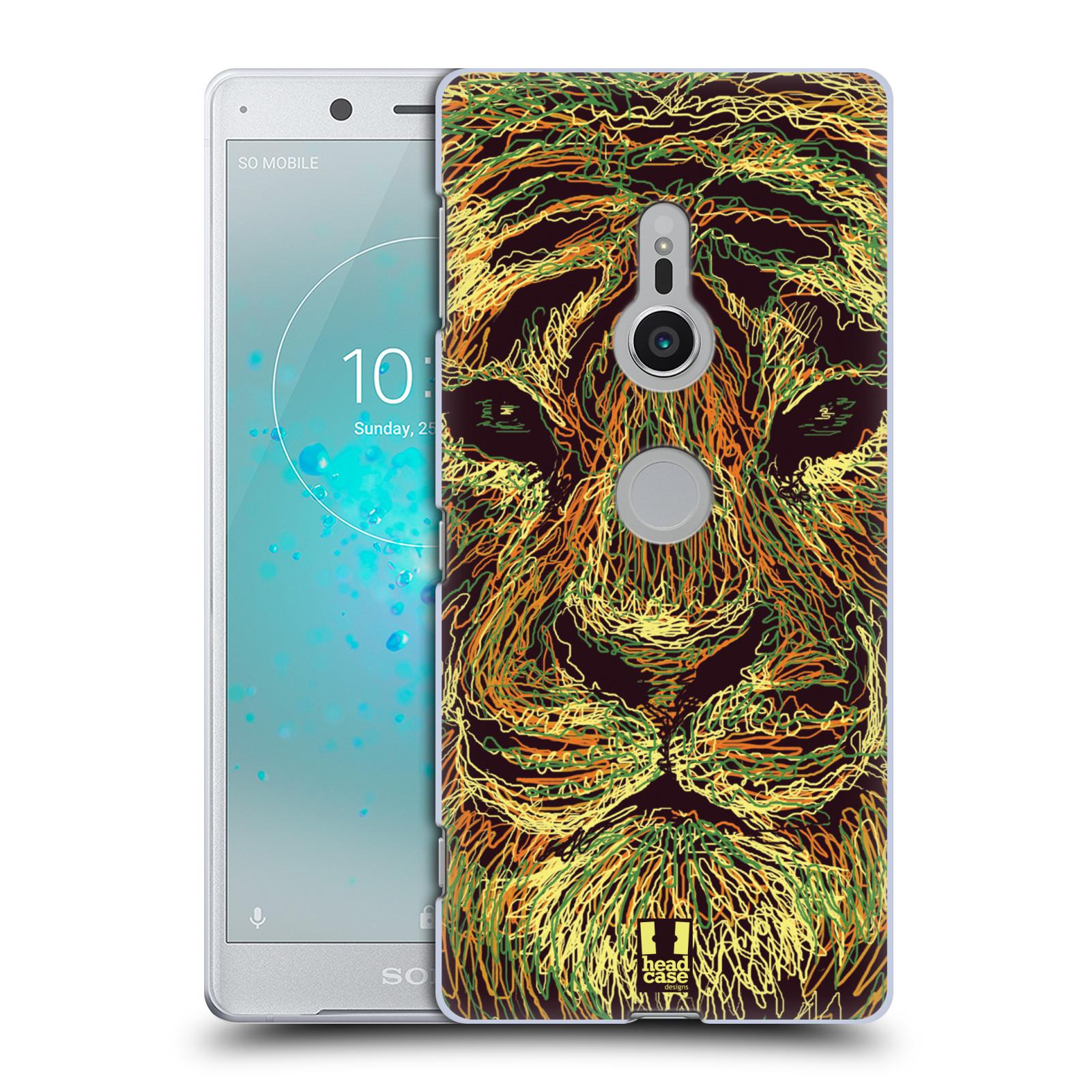 HEAD CASE plastový obal na mobil Sony Xperia XZ2 vzor zvíře čmáranice tygr