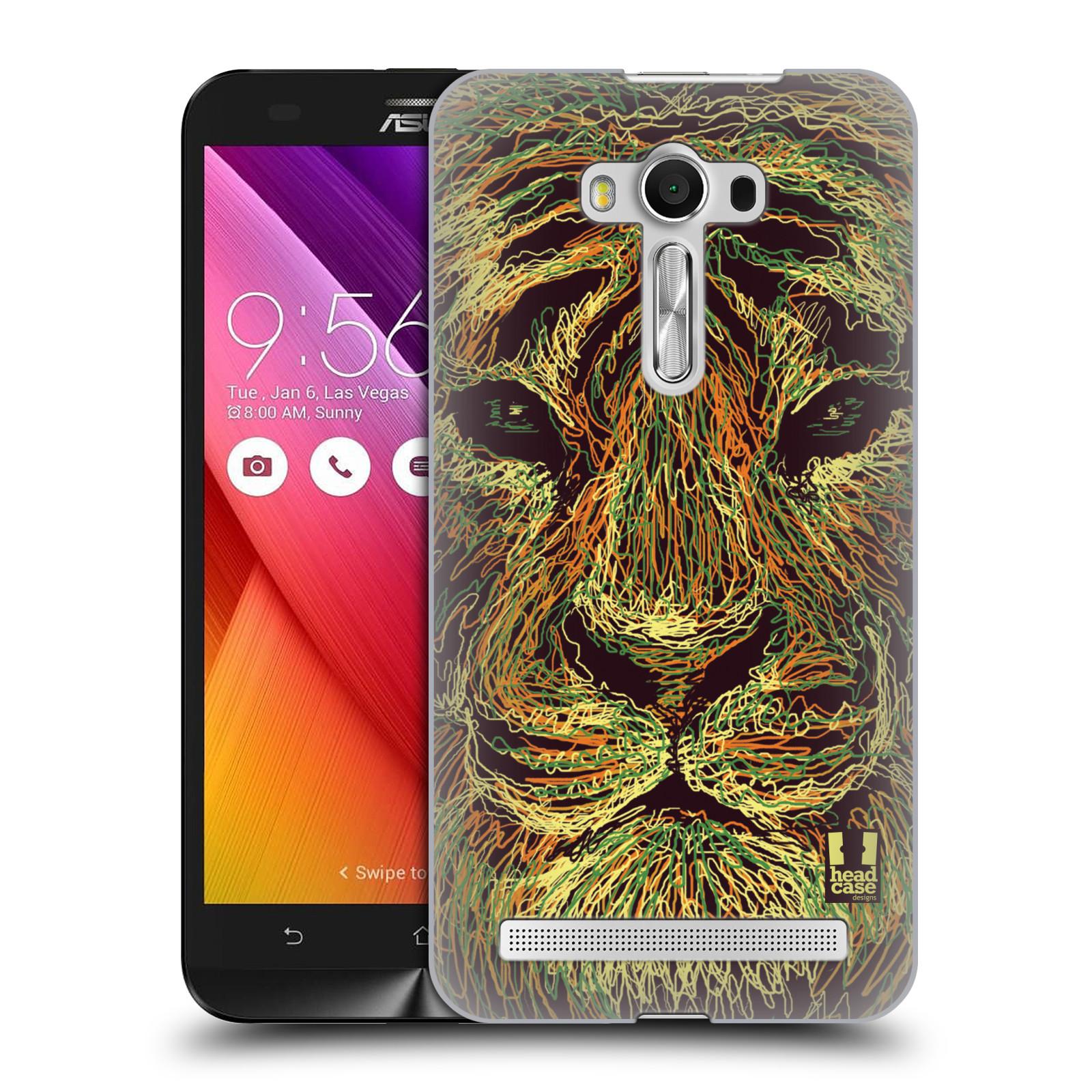HEAD CASE plastový obal na mobil Asus Zenfone 2 LASER (5,5 displej ZE550KL) vzor zvíře čmáranice tygr