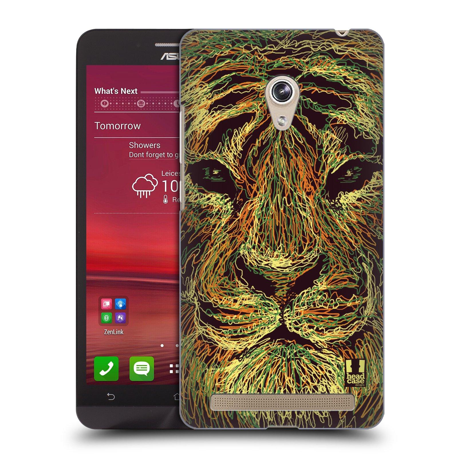HEAD CASE plastový obal na mobil Asus Zenfone 6 vzor zvíře čmáranice tygr