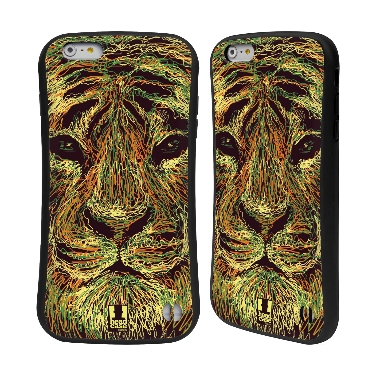 HEAD CASE silikon/plast odolný obal na mobil Apple Iphone 6 PLUS / 6S PLUS vzor zvíře čmáranice tygr