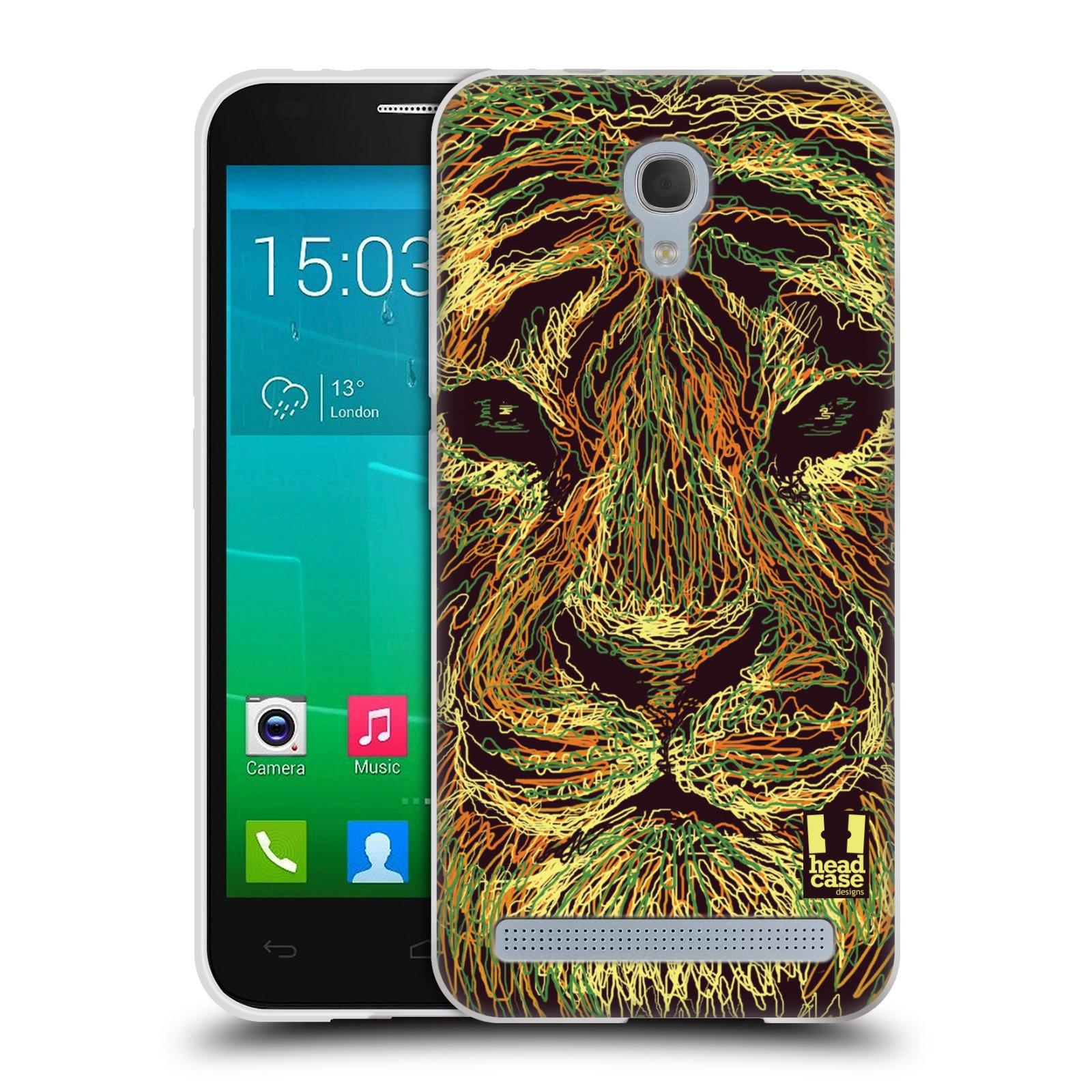 HEAD CASE silikonový obal na mobil Alcatel Idol 2 MINI S 6036Y vzor zvíře čmáranice tygr