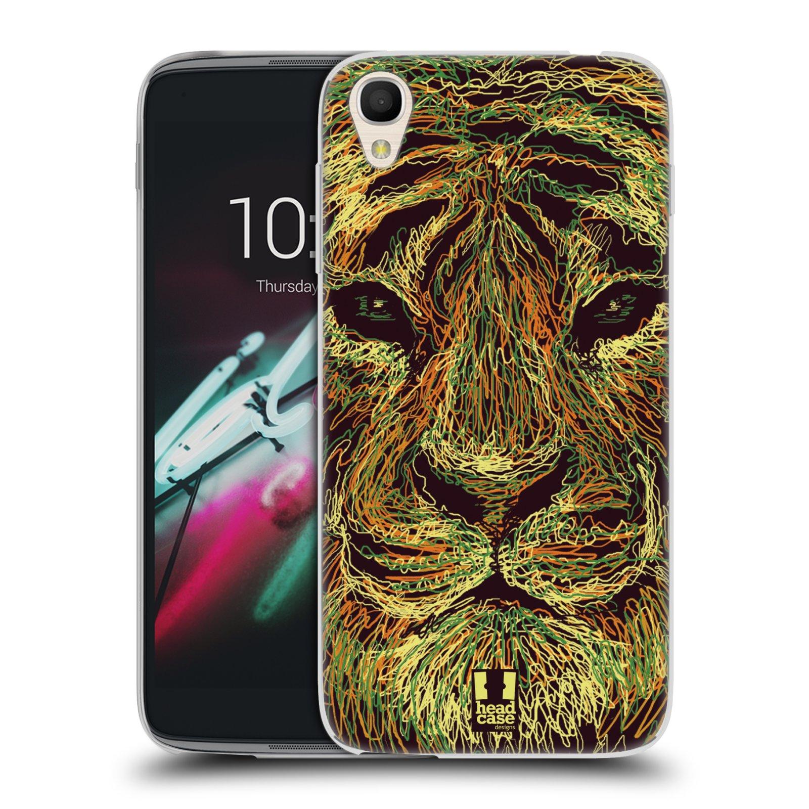HEAD CASE silikonový obal na mobil Alcatel Idol 3 OT-6039Y (4.7) vzor zvíře čmáranice tygr