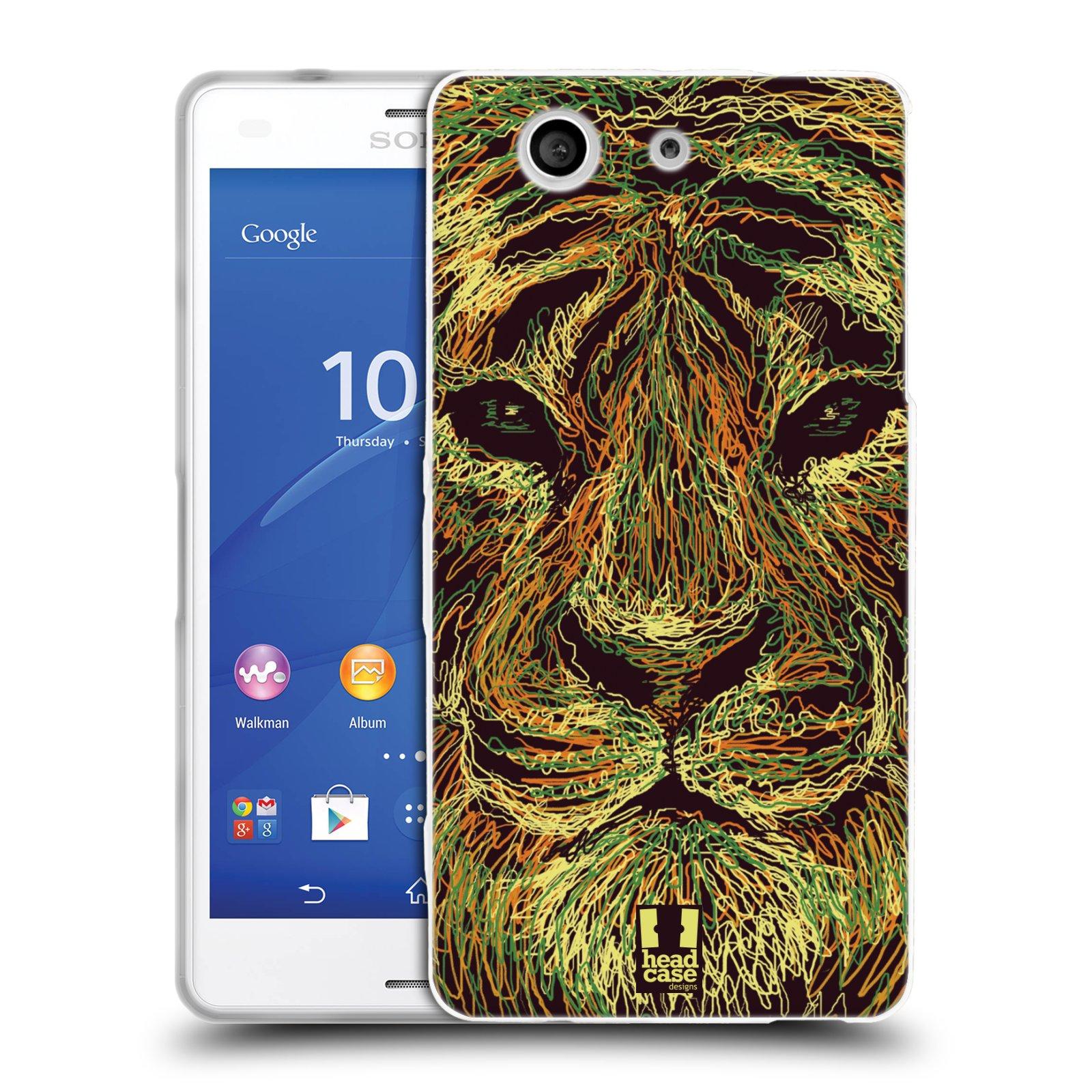 HEAD CASE silikonový obal na mobil Sony Xperia Z3 COMPACT (D5803) vzor zvíře čmáranice tygr