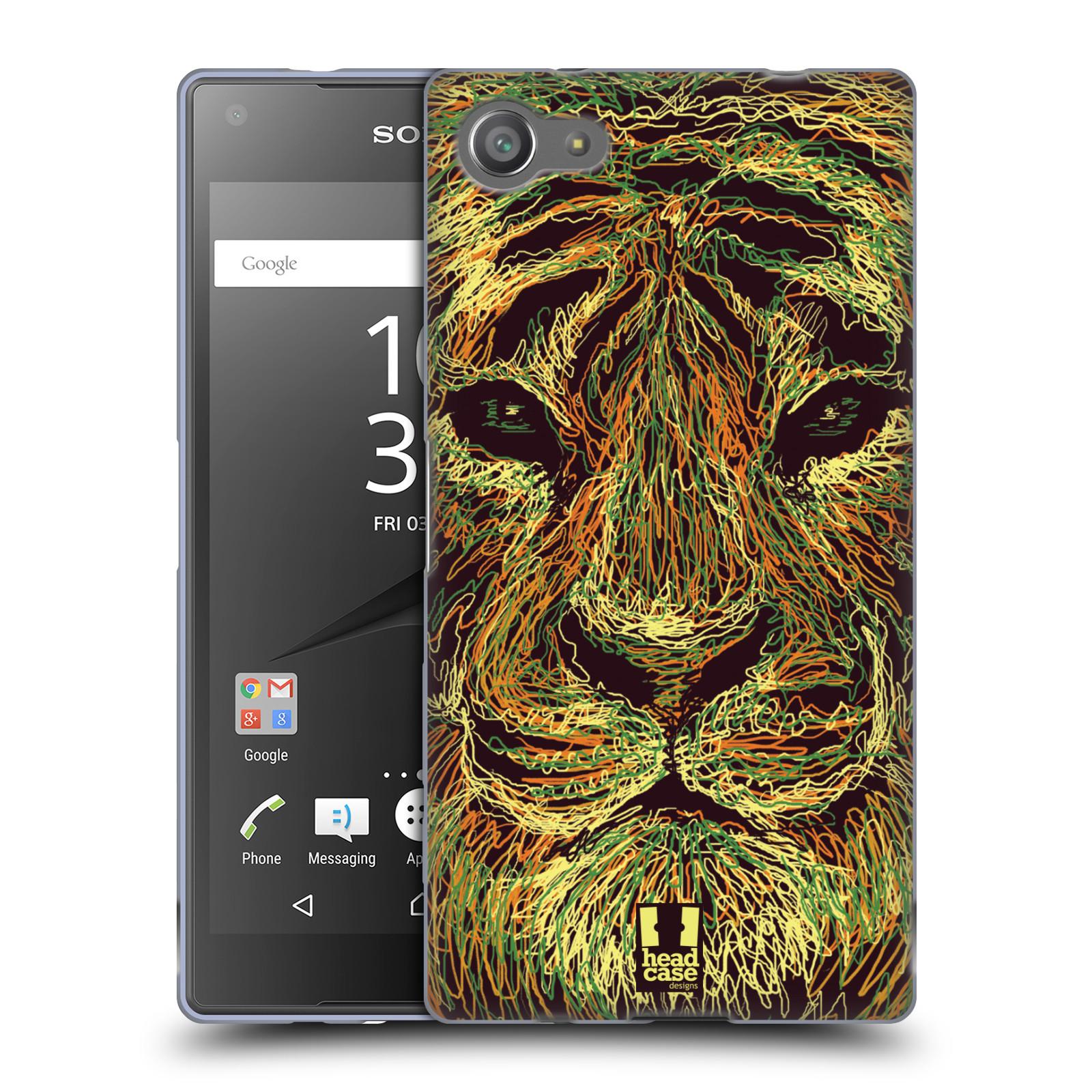 HEAD CASE silikonový obal na mobil Sony Xperia Z5 COMPACT vzor zvíře čmáranice tygr