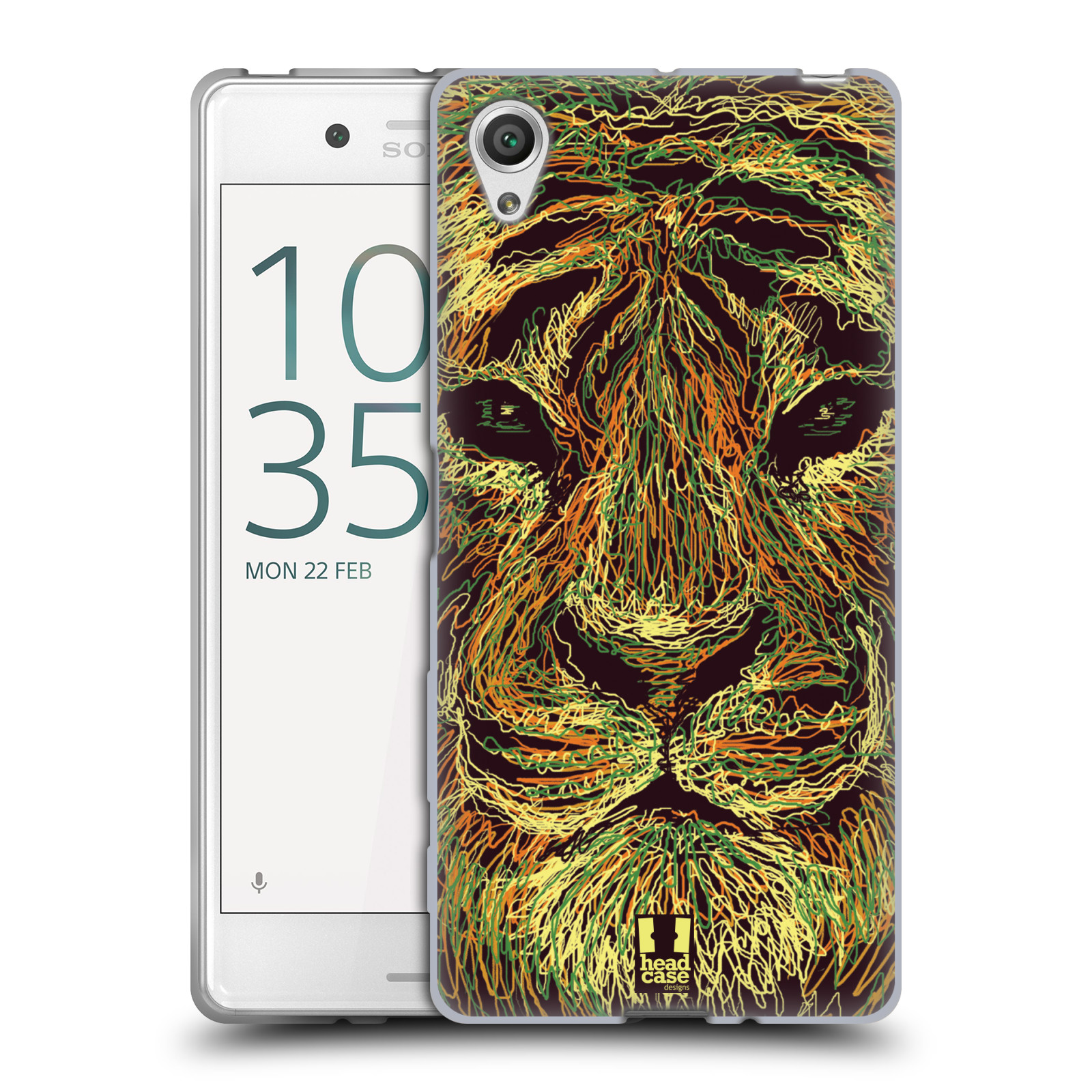 HEAD CASE silikonový obal na mobil Sony Xperia X / X DUAL vzor zvíře čmáranice tygr