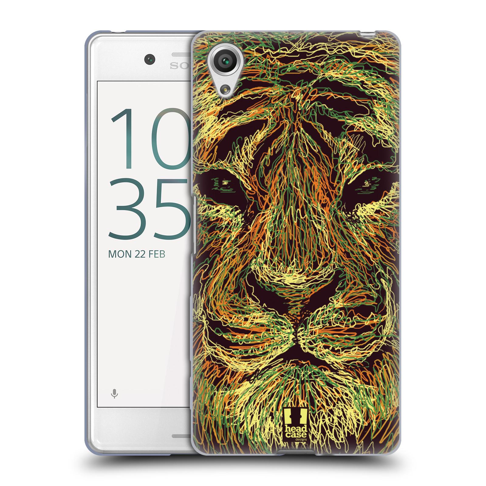 HEAD CASE silikonový obal na mobil Sony Xperia X PERFORMANCE (F8131, F8132) vzor zvíře čmáranice tygr
