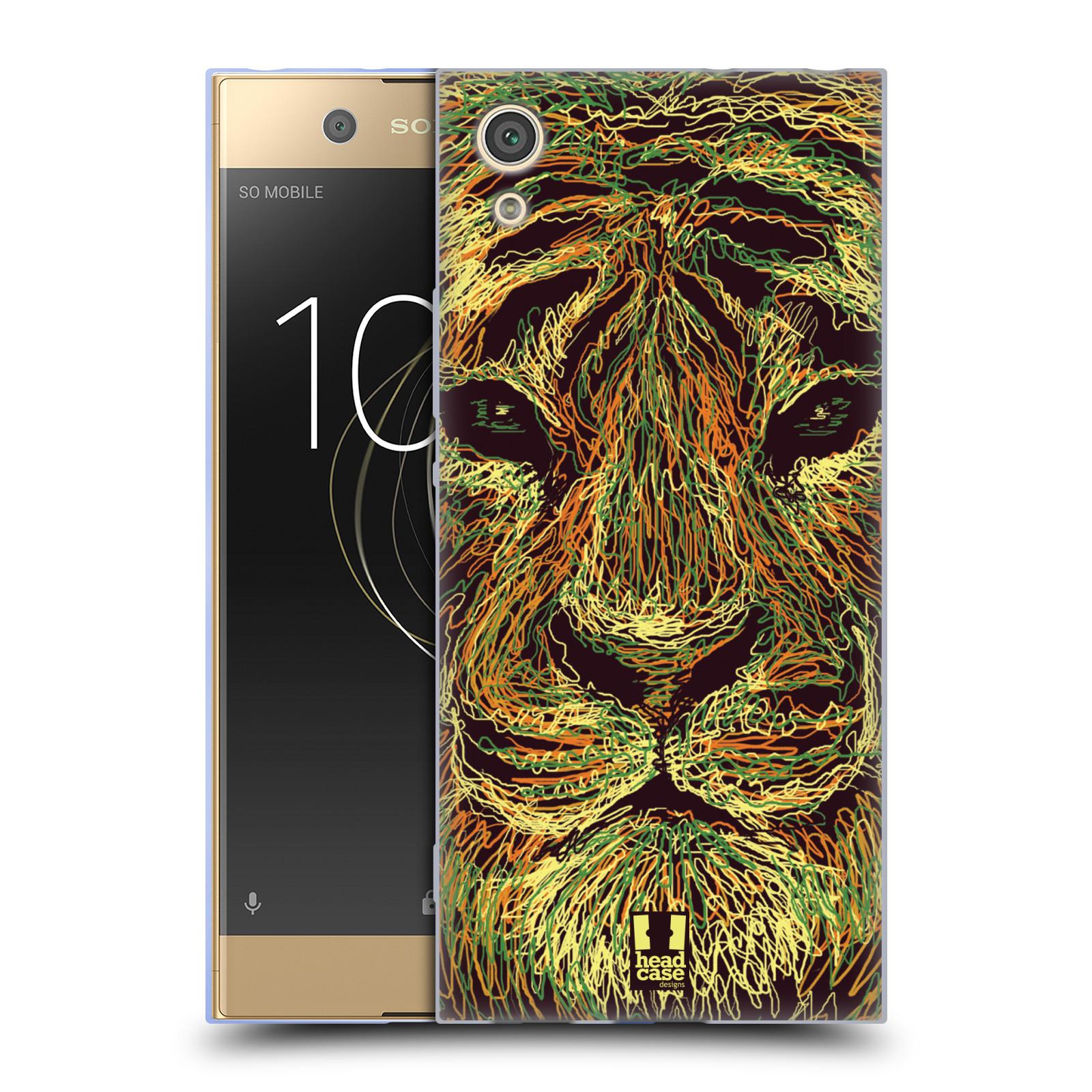 HEAD CASE silikonový obal na mobil Sony Xperia XA1 / XA1 DUAL SIM vzor zvíře čmáranice tygr