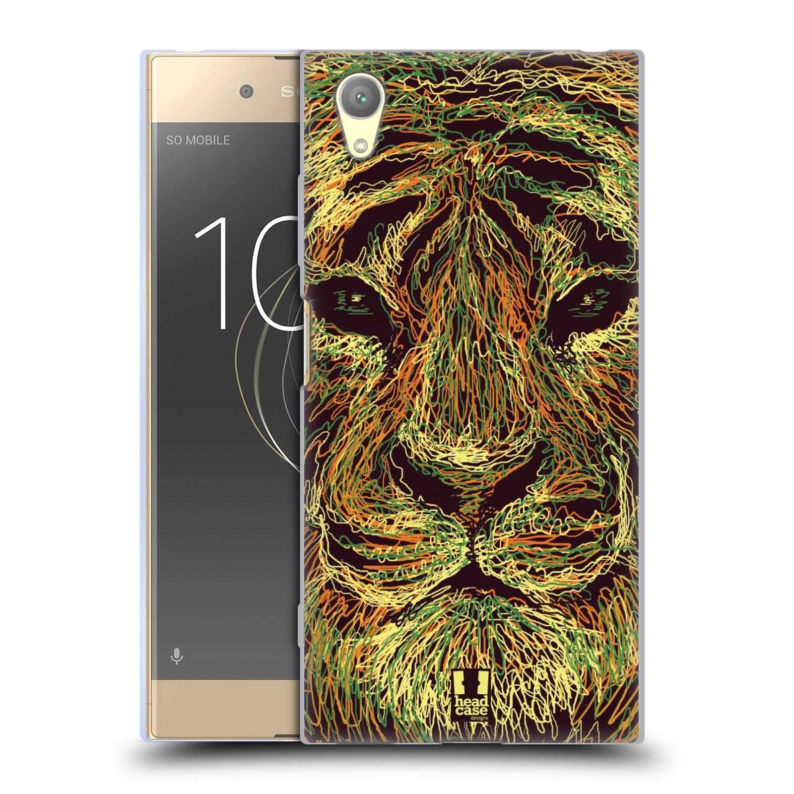HEAD CASE silikonový obal na mobil Sony Xperia XA1 PLUS vzor zvíře čmáranice tygr