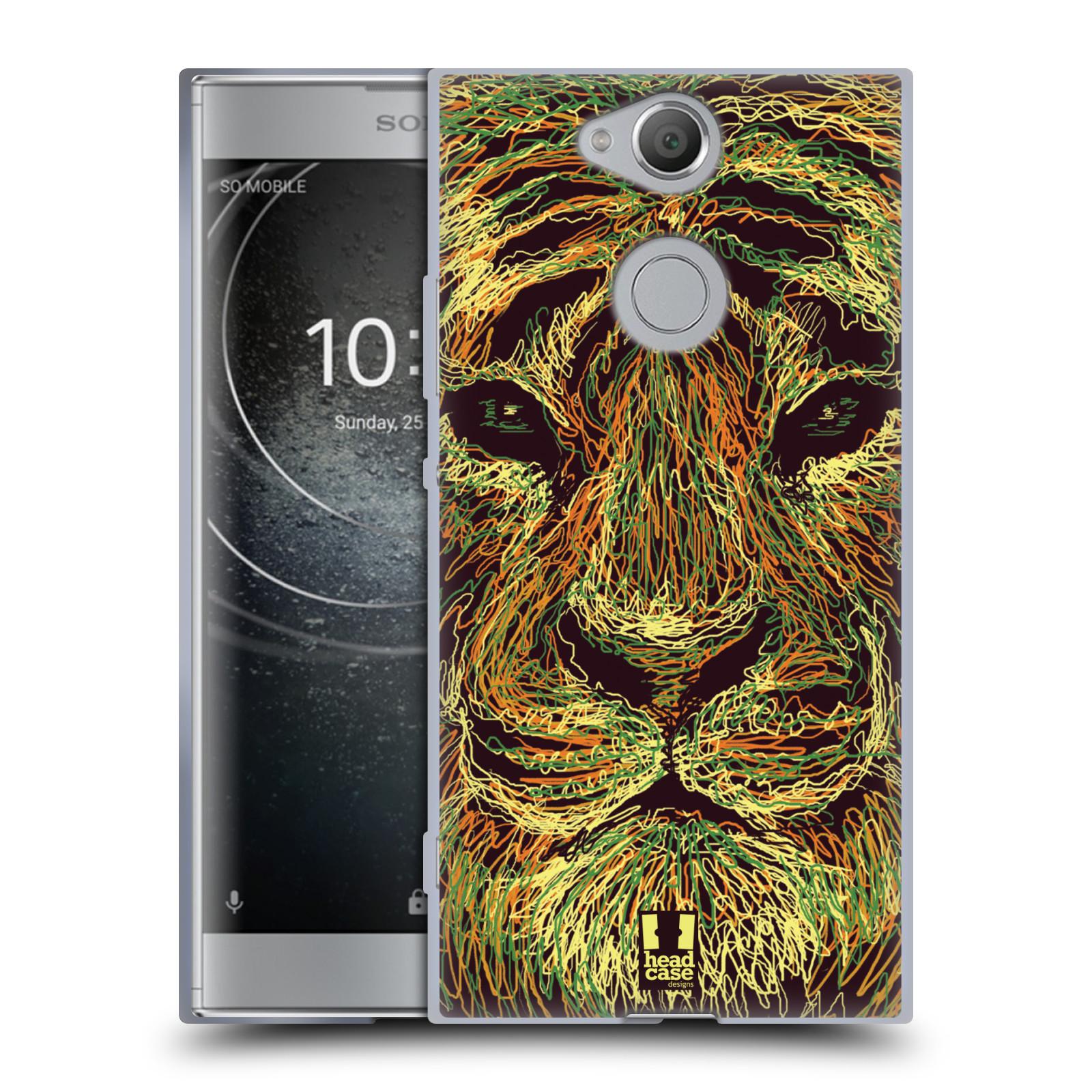 Pouzdro na mobil Sony Xperia XA2 (DUAL SIM, SINGLE SIM) vzor zvíře čmáranice tygr