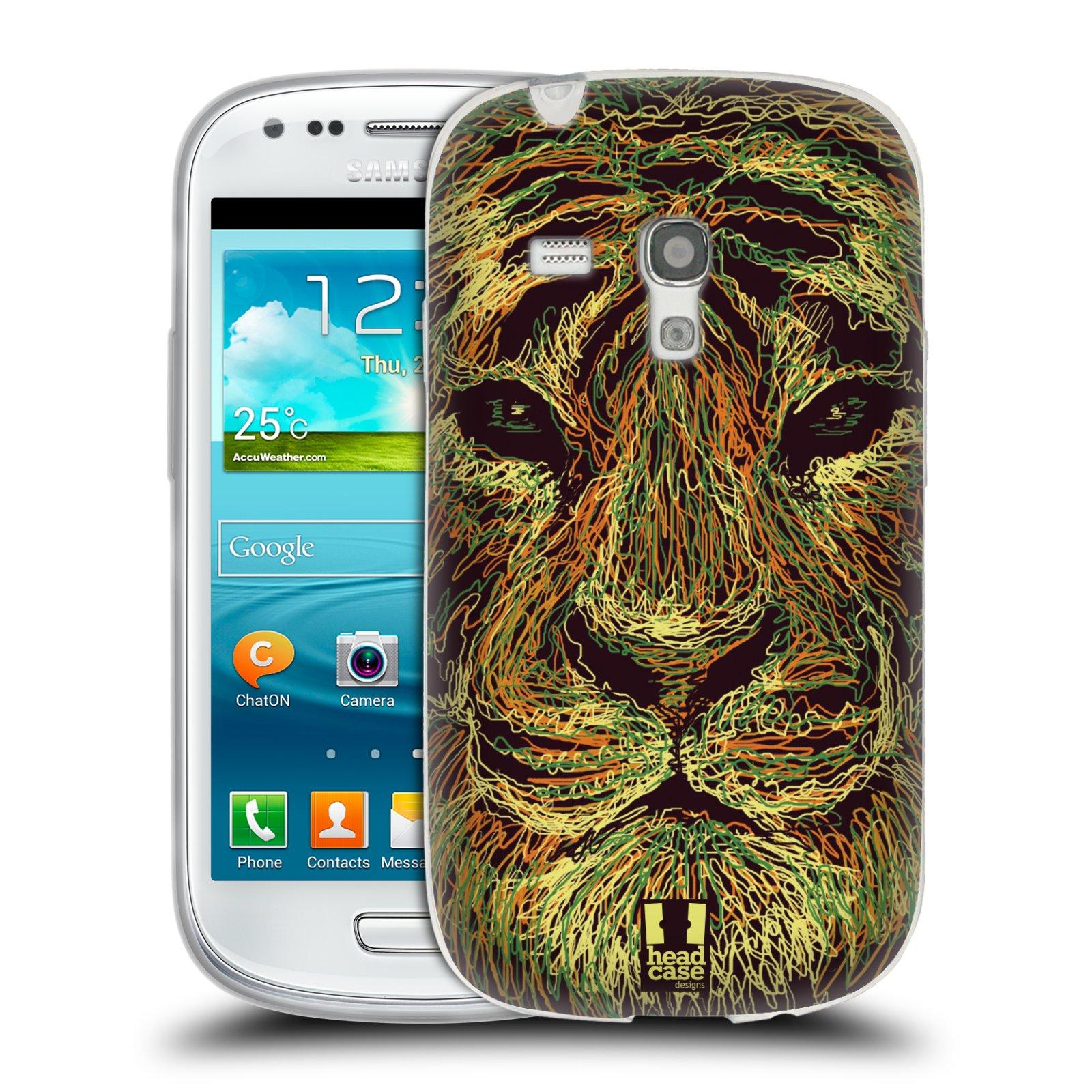 HEAD CASE silikonový obal na mobil Samsung Galaxy S3 MINI i8190 vzor zvíře čmáranice tygr