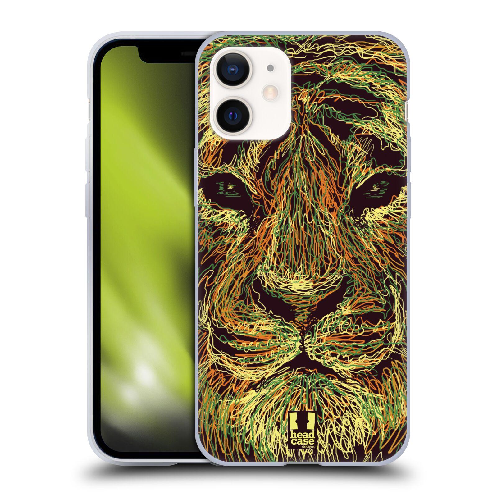 Plastový obal na mobil Apple Iphone 12 MINI vzor zvíře čmáranice tygr