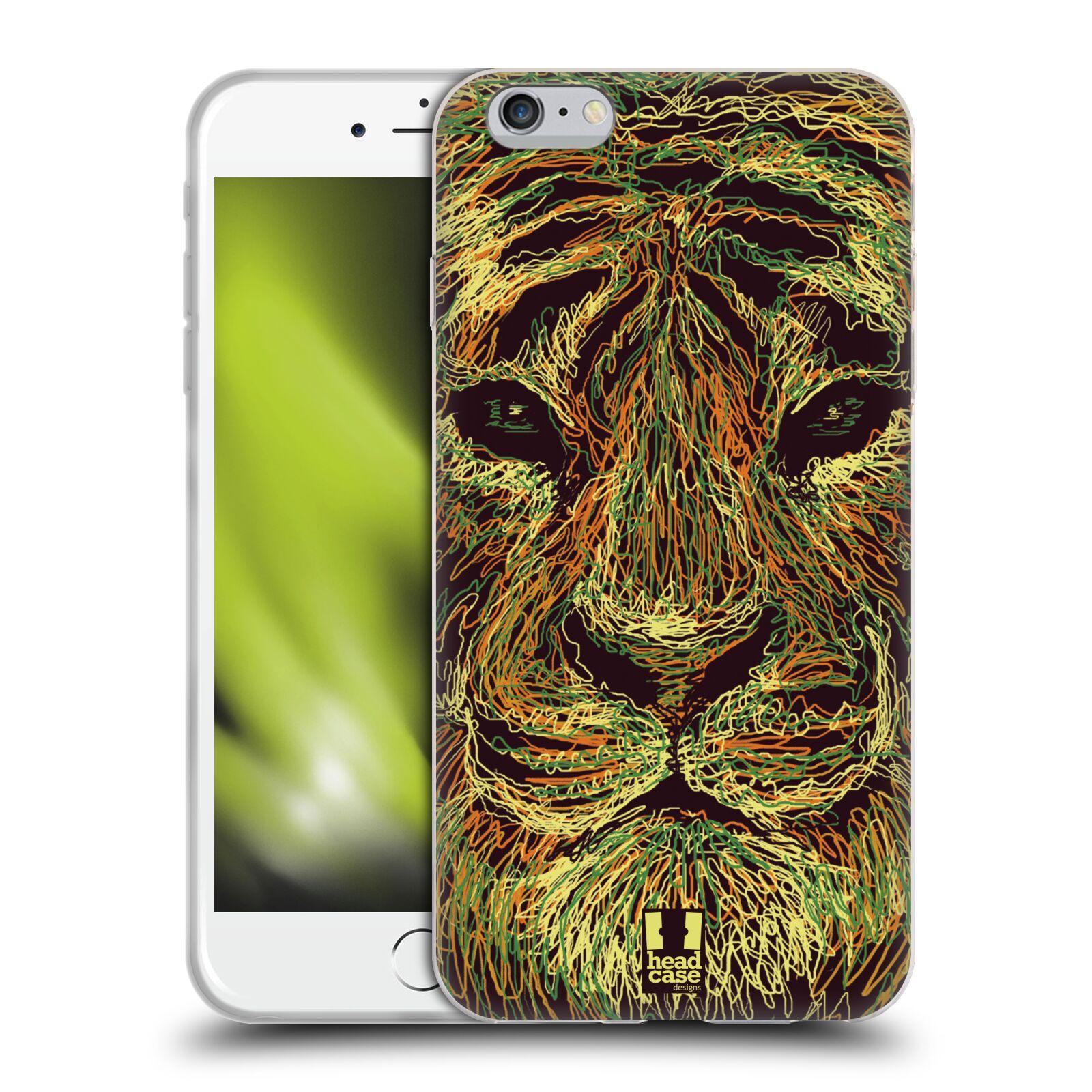 HEAD CASE silikonový obal na mobil Apple Iphone 6 PLUS/ 6S PLUS vzor zvíře čmáranice tygr