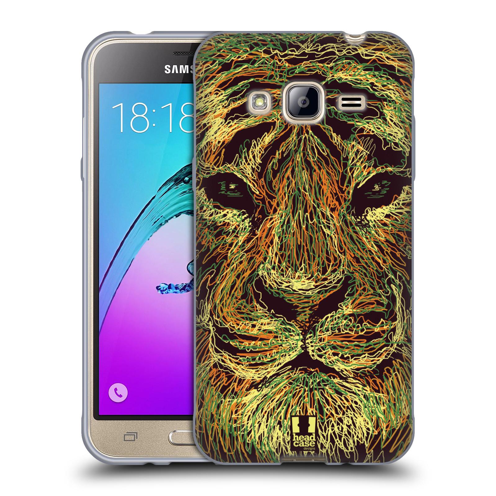 HEAD CASE silikonový obal na mobil Samsung Galaxy J3, J3 2016 vzor zvíře čmáranice tygr