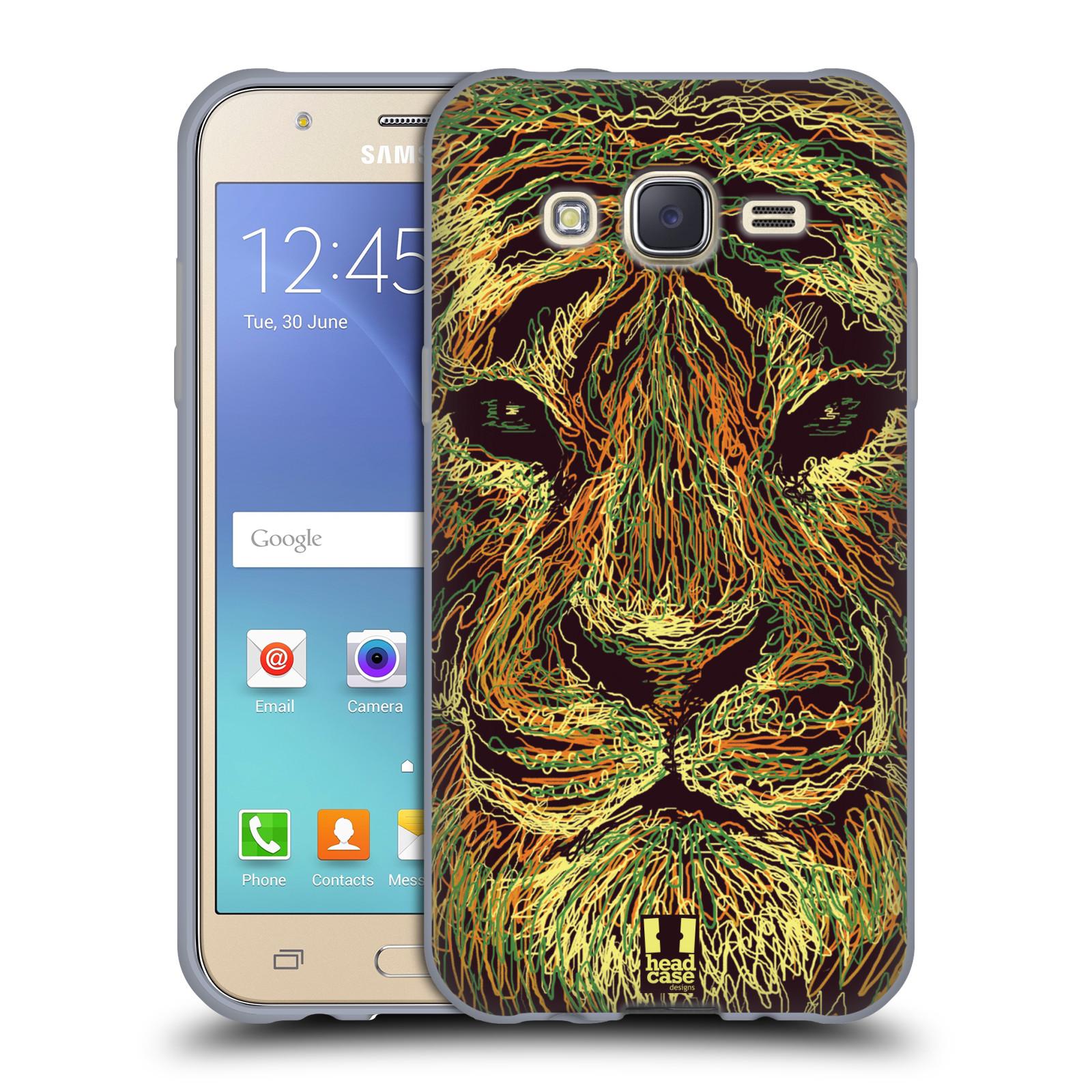 HEAD CASE silikonový obal na mobil Samsung Galaxy J5, J500, (J5 DUOS) vzor zvíře čmáranice tygr