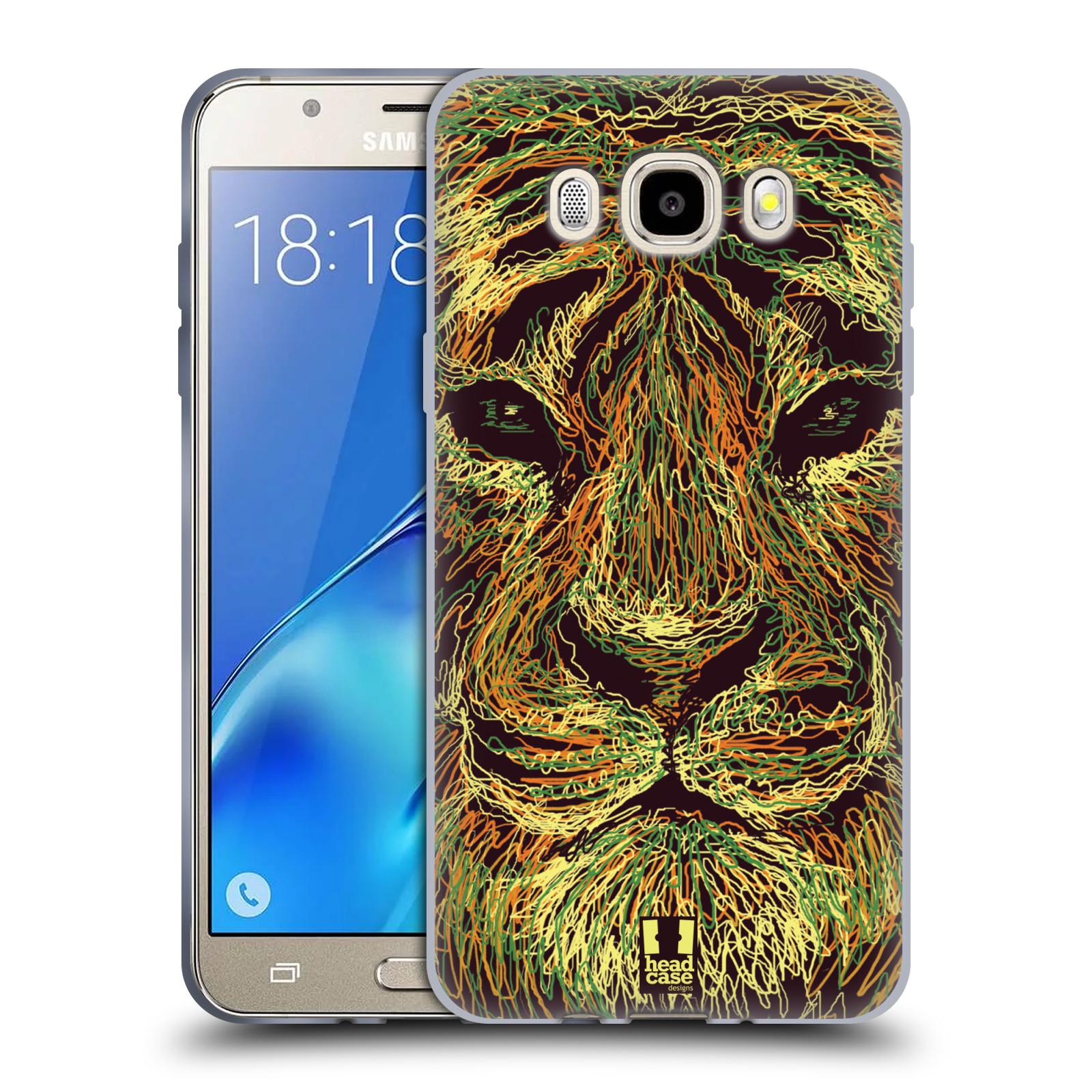 HEAD CASE silikonový obal, kryt na mobil Samsung Galaxy J5 2016, J510, J510F, (J510F DUAL SIM) vzor zvíře čmáranice tygr