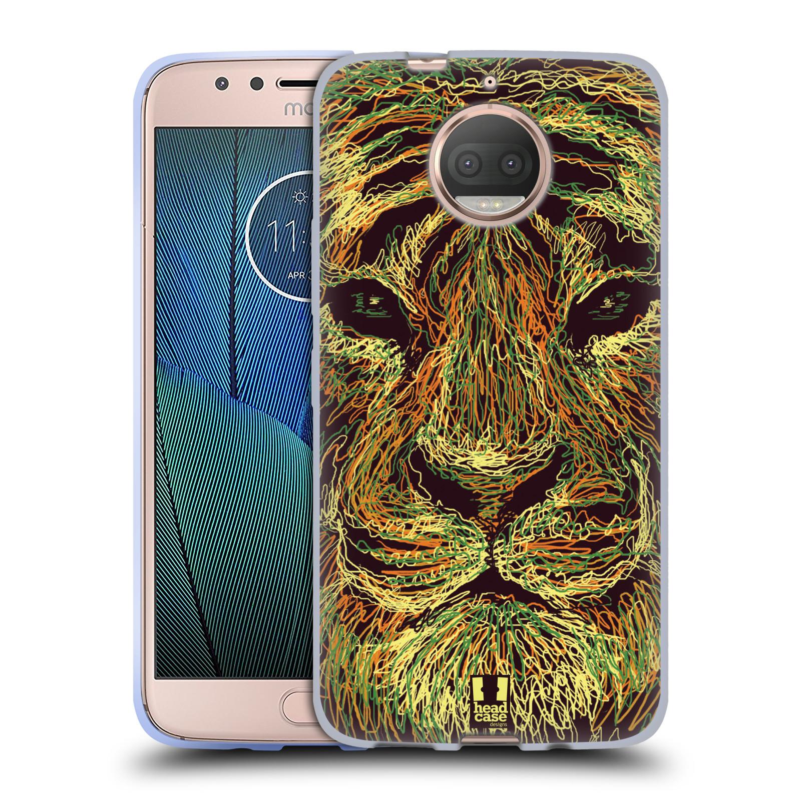 HEAD CASE silikonový obal na mobil Lenovo Moto G5s PLUS vzor zvíře čmáranice tygr