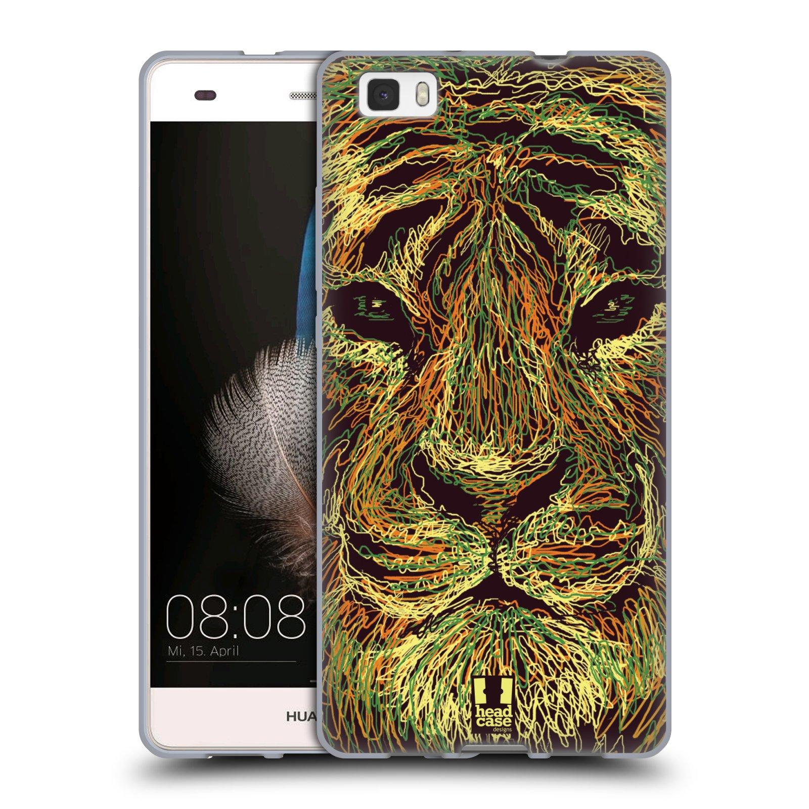 HEAD CASE silikonový obal na mobil HUAWEI P8 LITE vzor zvíře čmáranice tygr