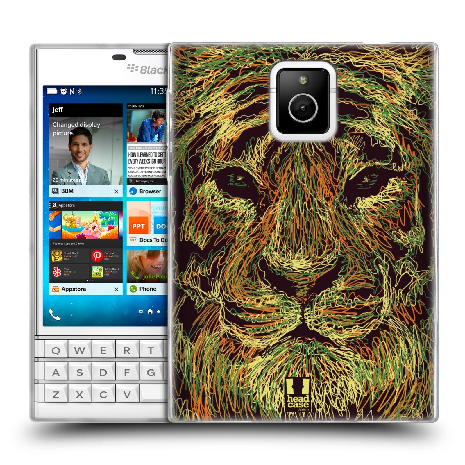 HEAD CASE silikonový obal na mobil Blackberry PASSPORT vzor zvíře čmáranice tygr