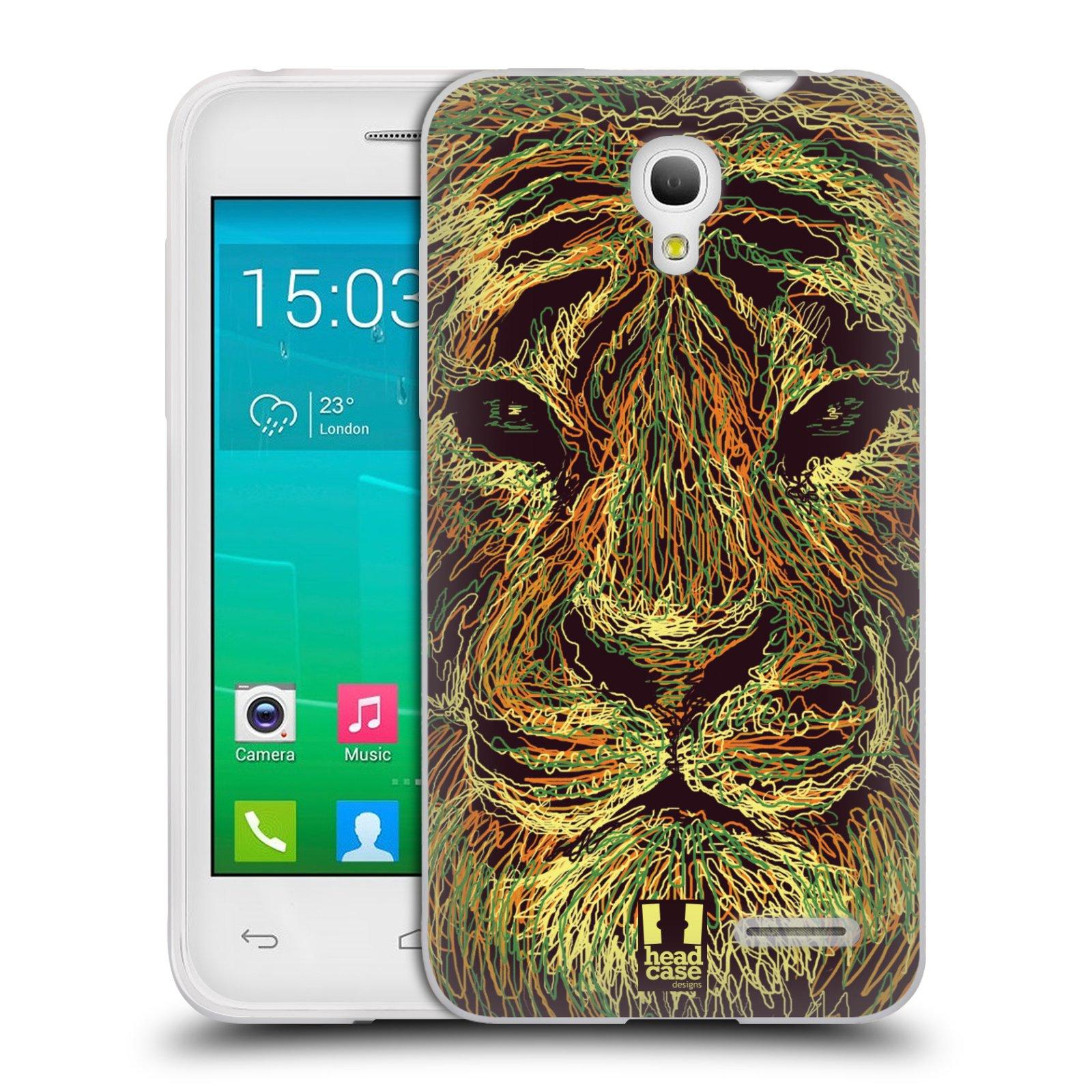 HEAD CASE silikonový obal na mobil Alcatel POP S3 OT-5050Y vzor zvíře čmáranice tygr