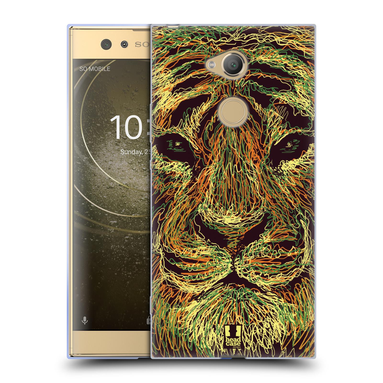Pouzdro na mobil Sony Xperia XA2 Ultra vzor zvíře čmáranice tygr