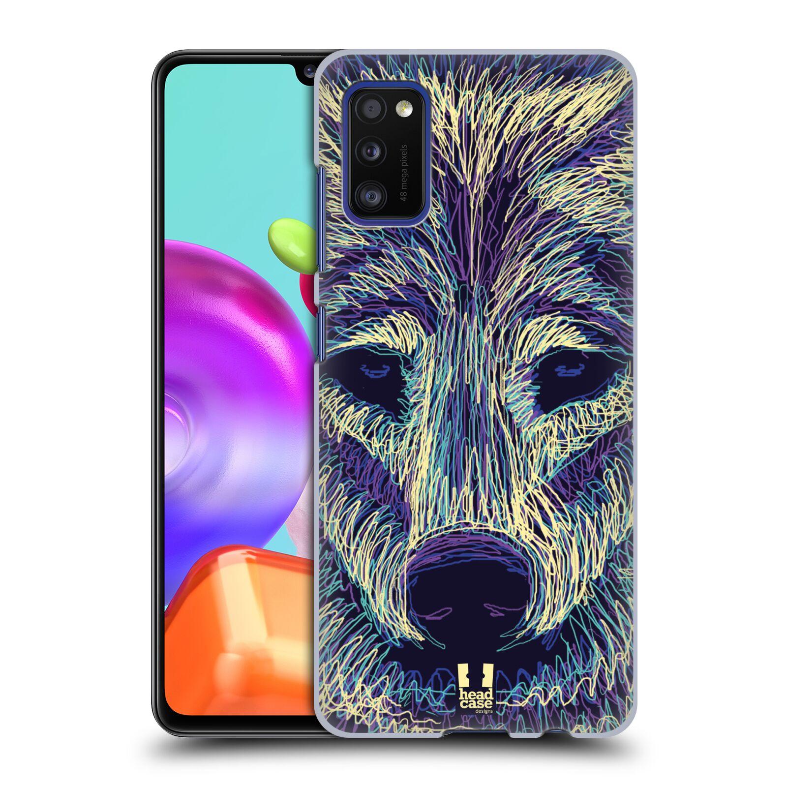 Zadní kryt na mobil Samsung Galaxy A41 vzor zvíře čmáranice vlk