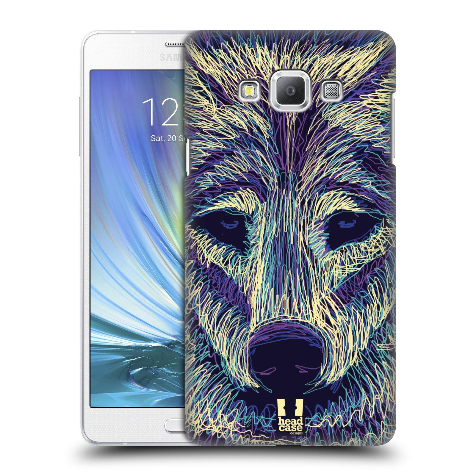 HEAD CASE plastový obal na mobil SAMSUNG GALAXY A7 vzor zvíře čmáranice vlk