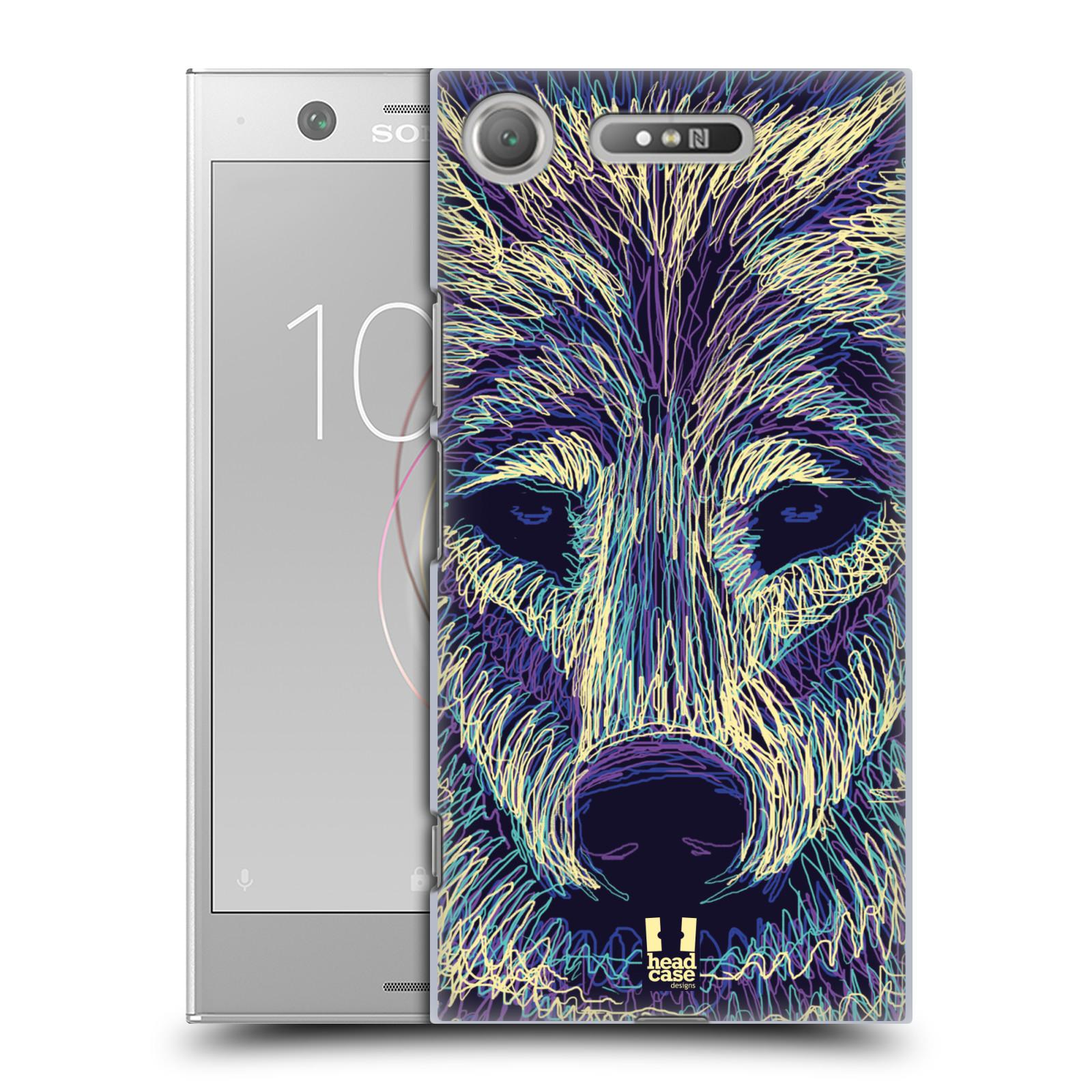 HEAD CASE plastový obal na mobil Sony Xperia XZ1 vzor zvíře čmáranice vlk