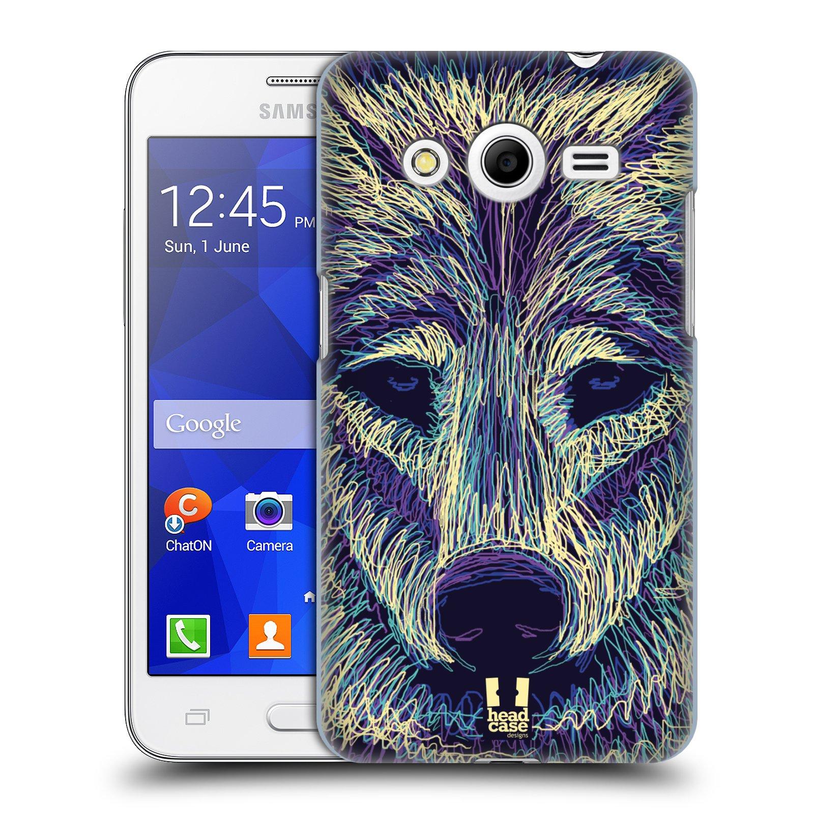 HEAD CASE plastový obal na mobil SAMSUNG GALAXY Core 2 (G355H) vzor zvíře čmáranice vlk