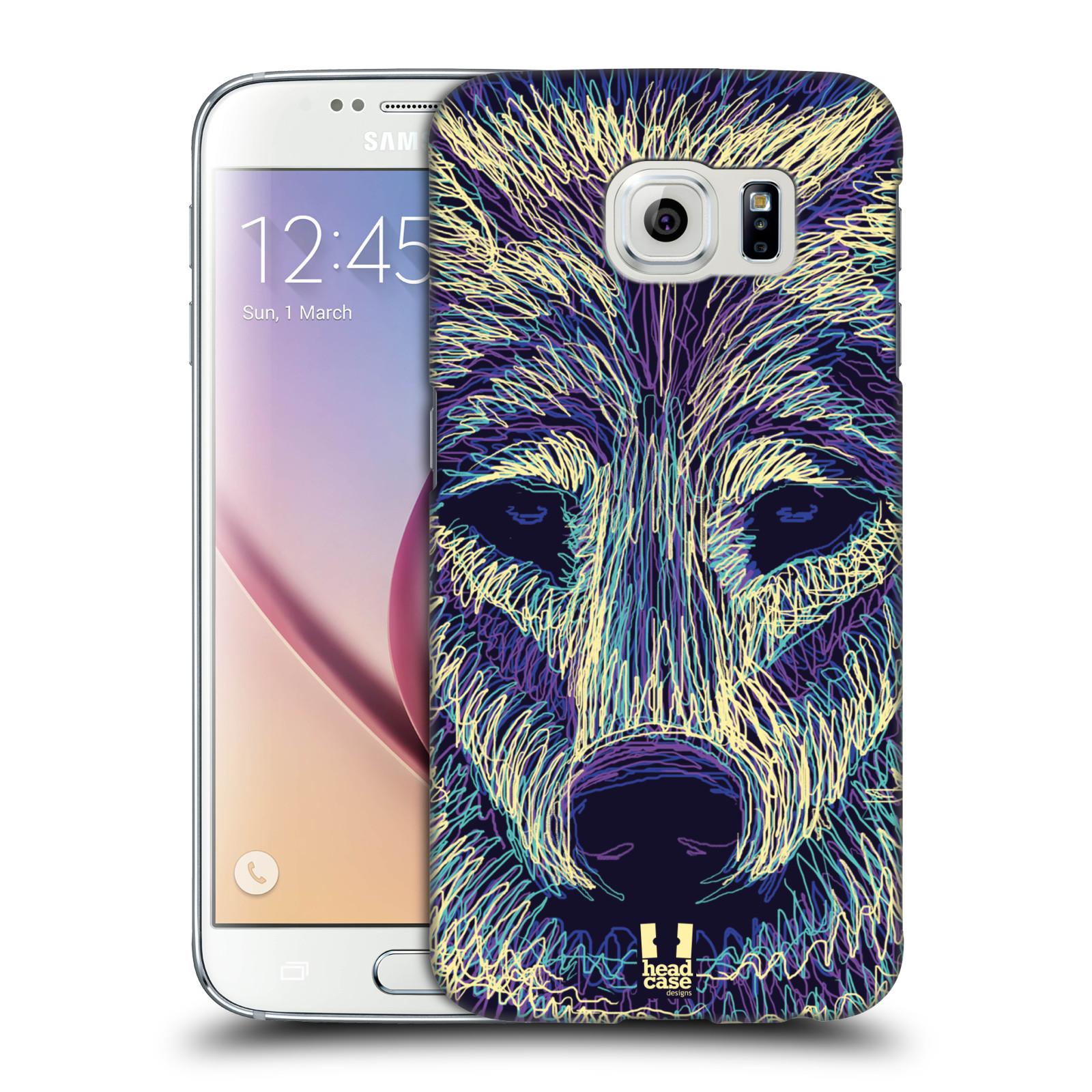 HEAD CASE plastový obal na mobil SAMSUNG Galaxy S6 (G9200, G920F) vzor zvíře čmáranice vlk