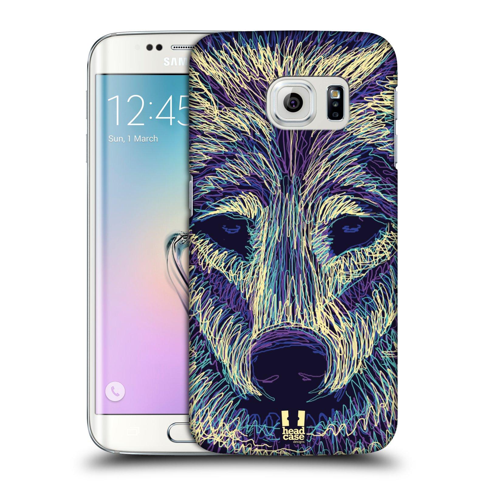 HEAD CASE plastový obal na mobil SAMSUNG Galaxy S6 EDGE (G9250, G925, G925F) vzor zvíře čmáranice vlk