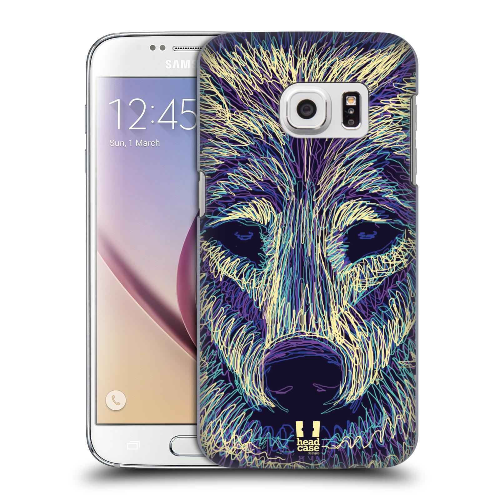 HEAD CASE plastový obal na mobil SAMSUNG GALAXY S7 vzor zvíře čmáranice vlk