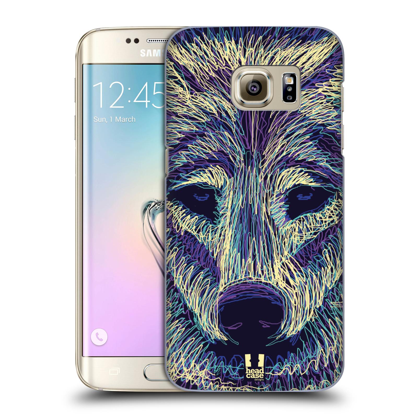 HEAD CASE plastový obal na mobil SAMSUNG GALAXY S7 EDGE vzor zvíře čmáranice vlk