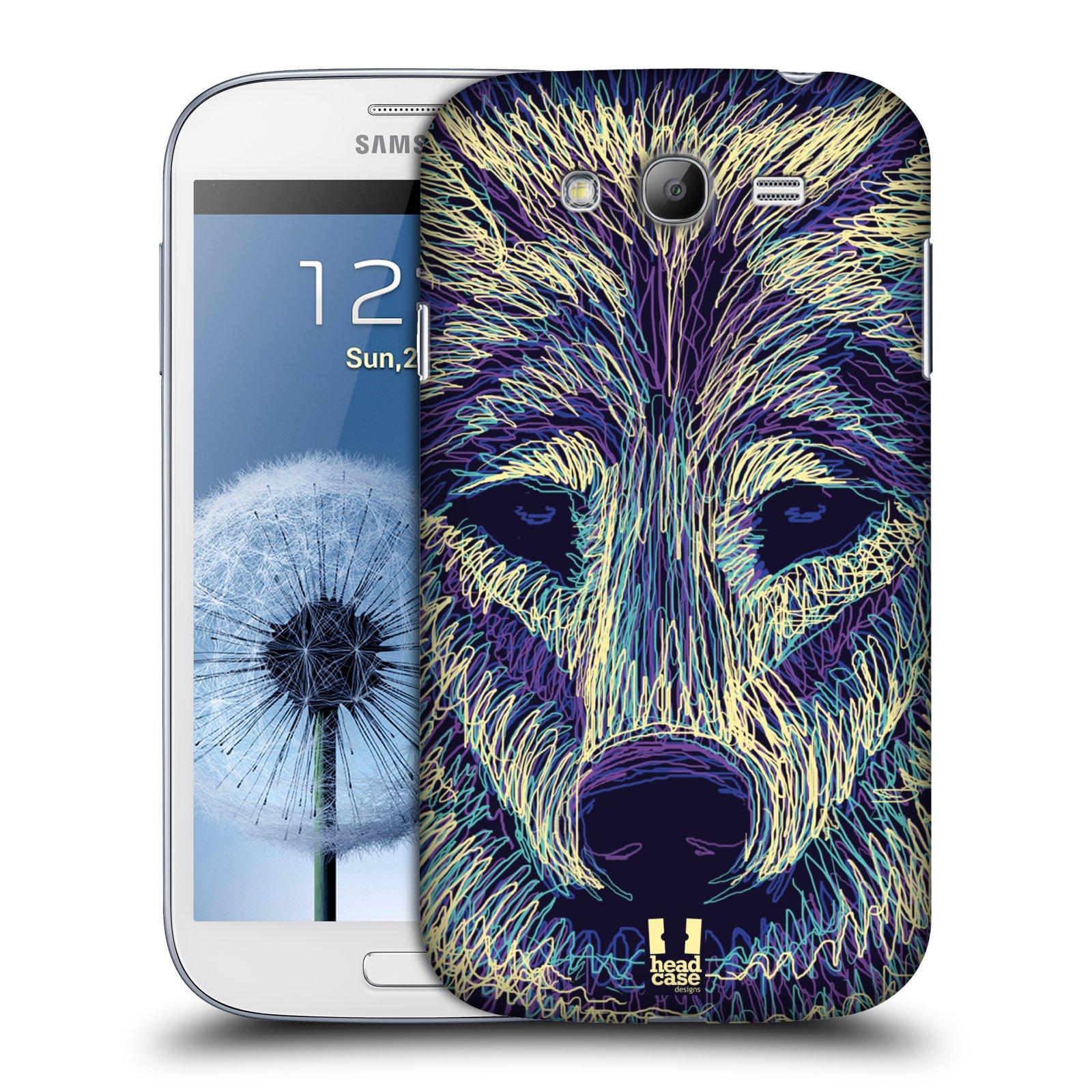 HEAD CASE plastový obal na mobil SAMSUNG GALAXY Grand i9080 vzor zvíře čmáranice vlk