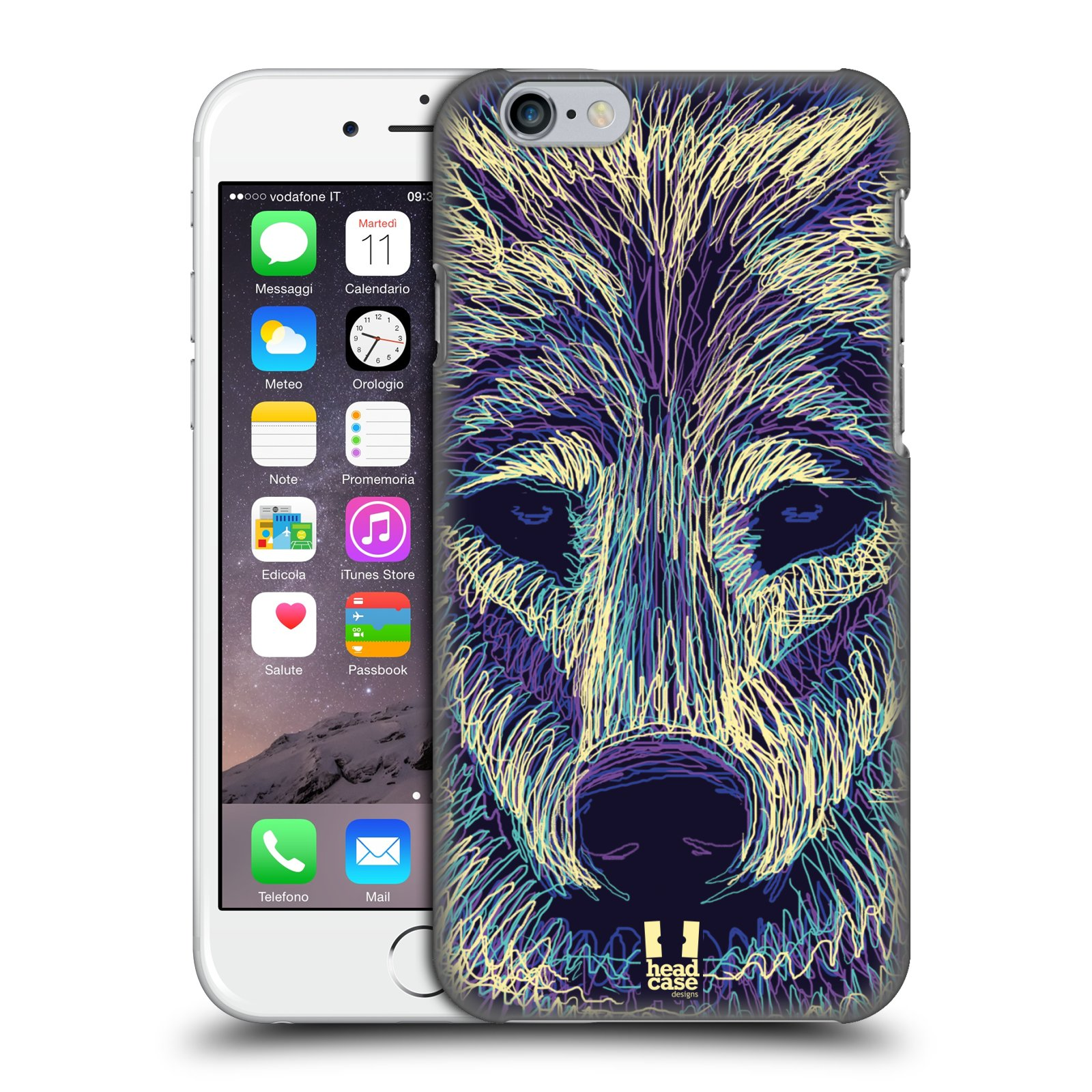 Plastové pouzdro pro mobil Apple Iphone 6/6S vzor zvíře čmáranice vlk