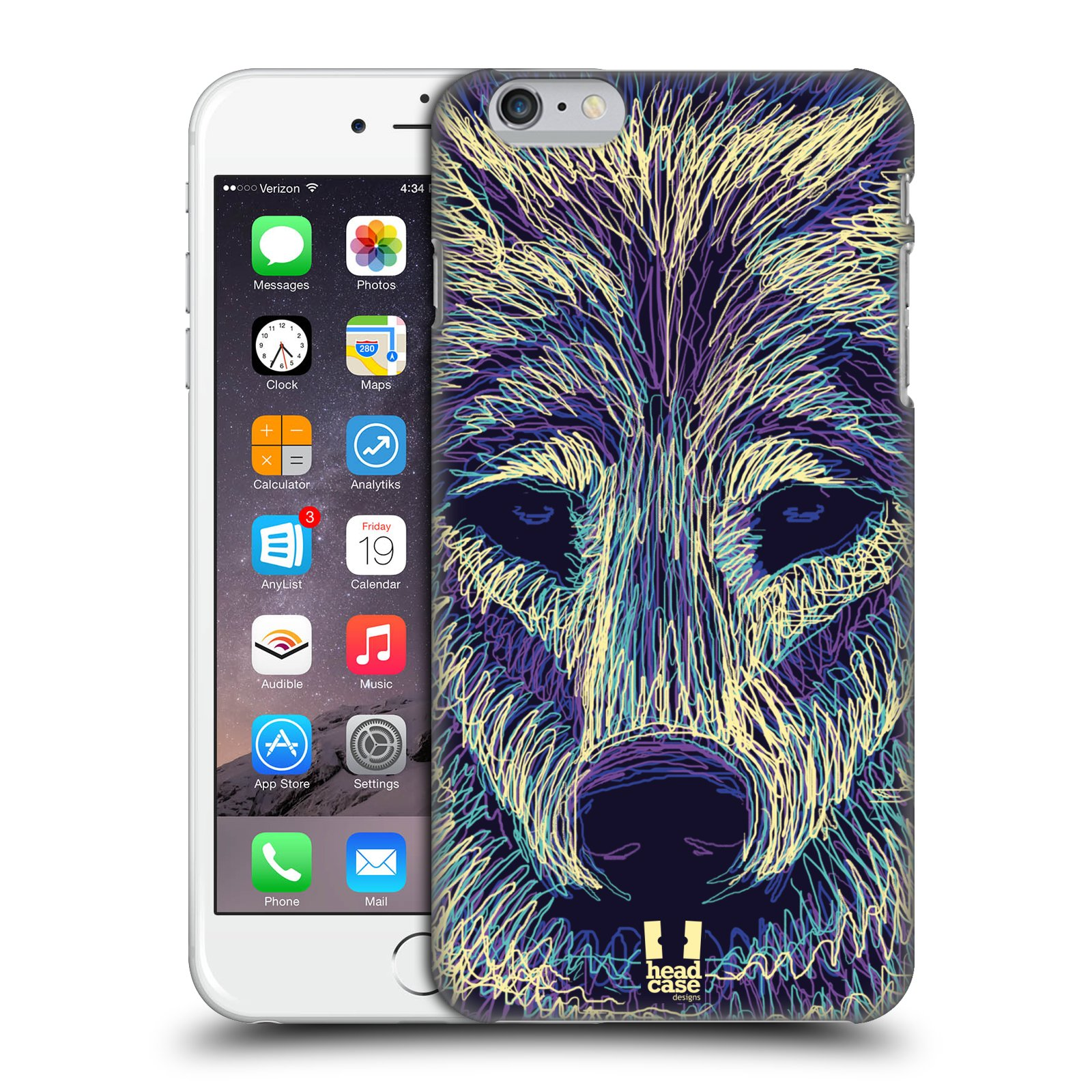 Plastové pouzdro pro mobil Apple Iphone 6 PLUS / 6S PLUS vzor zvíře čmáranice vlk