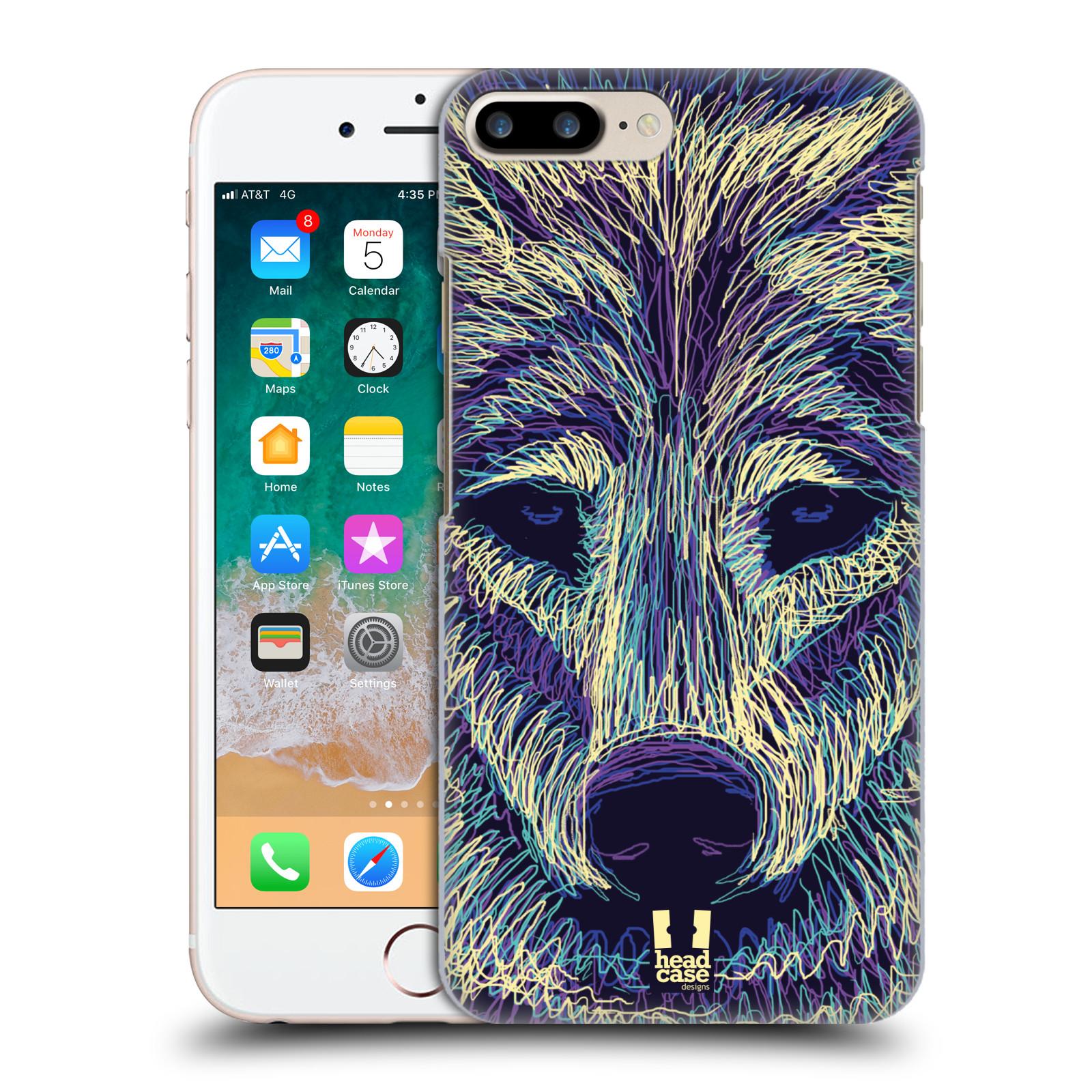 HEAD CASE plastový obal na mobil Apple Iphone 7 PLUS vzor zvíře čmáranice vlk