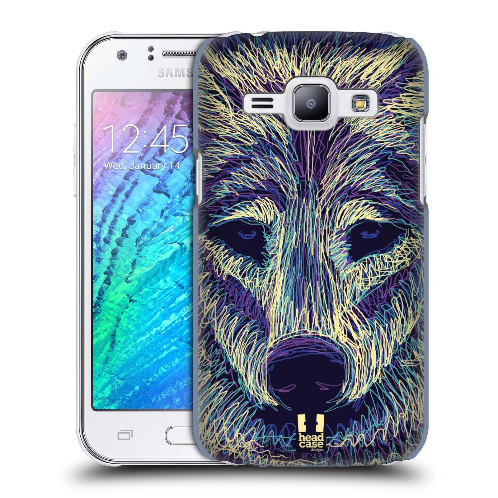 HEAD CASE plastový obal na mobil SAMSUNG Galaxy J1, J100 vzor zvíře čmáranice vlk